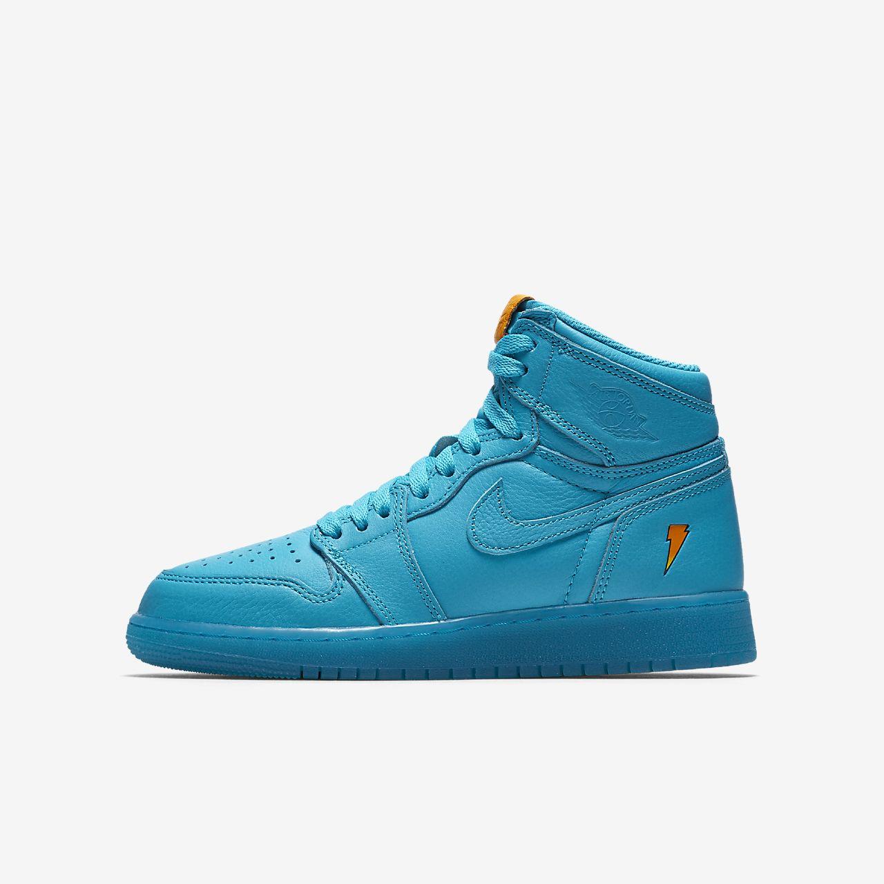"""รองเท้าเด็กโต Air Jordan 1 Retro High """"Cool Blue"""""""