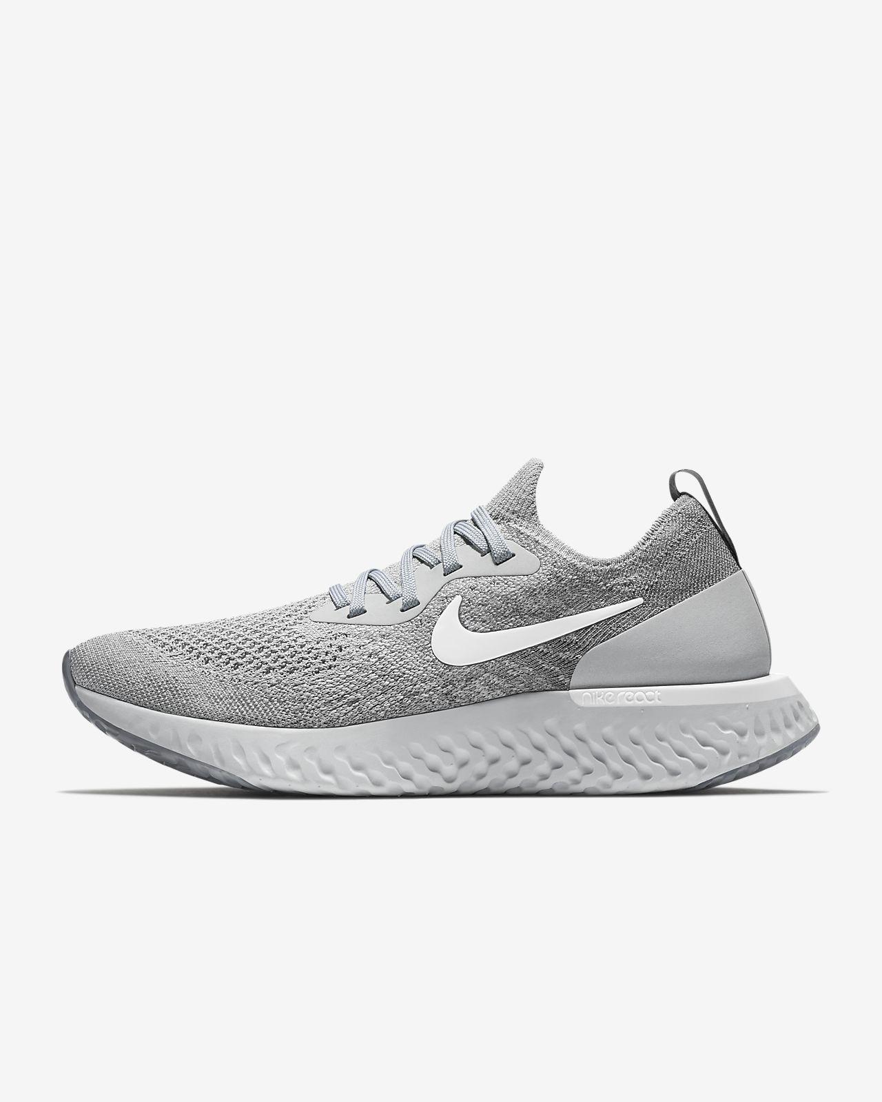 Nike Epic React Flyknit Wolf Grey Running Schuhe Damen