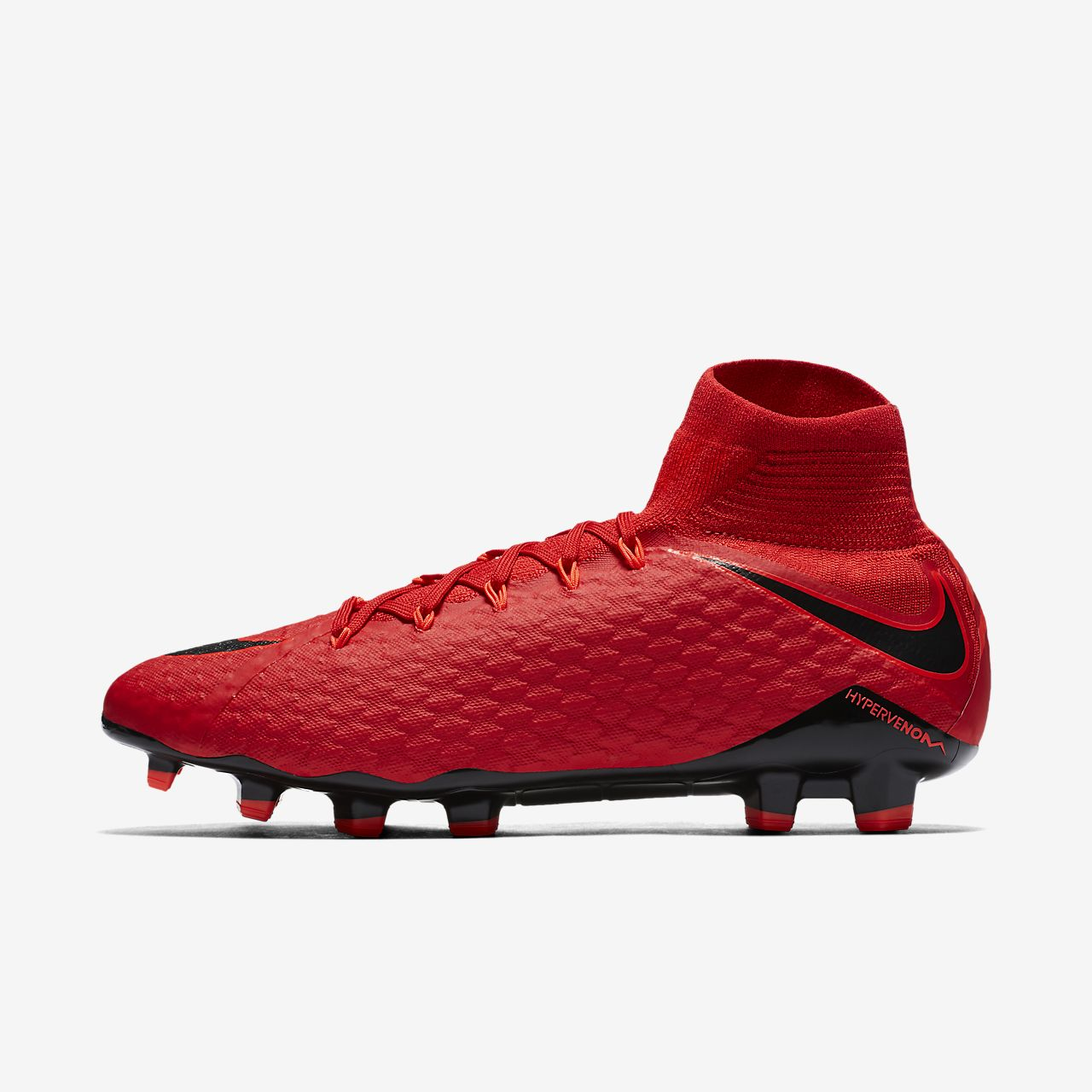 Nike Mercurial Veloce III Firm-Ground Women's Football Shoes Red/Black hI4422A