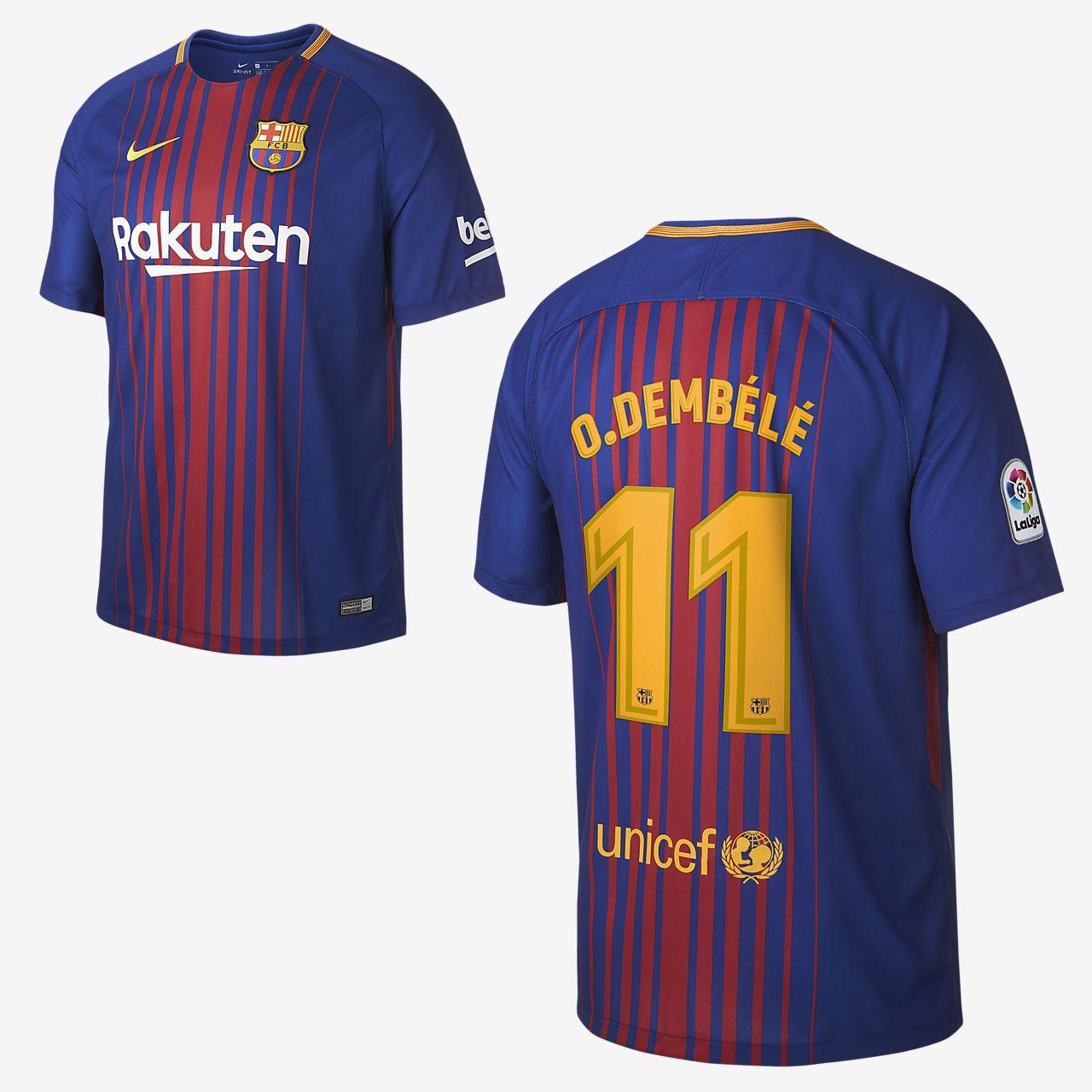 Camiseta de fútbol para hombre de local Stadium del FC Barcelona 2017 18 cdcd16fa1ff