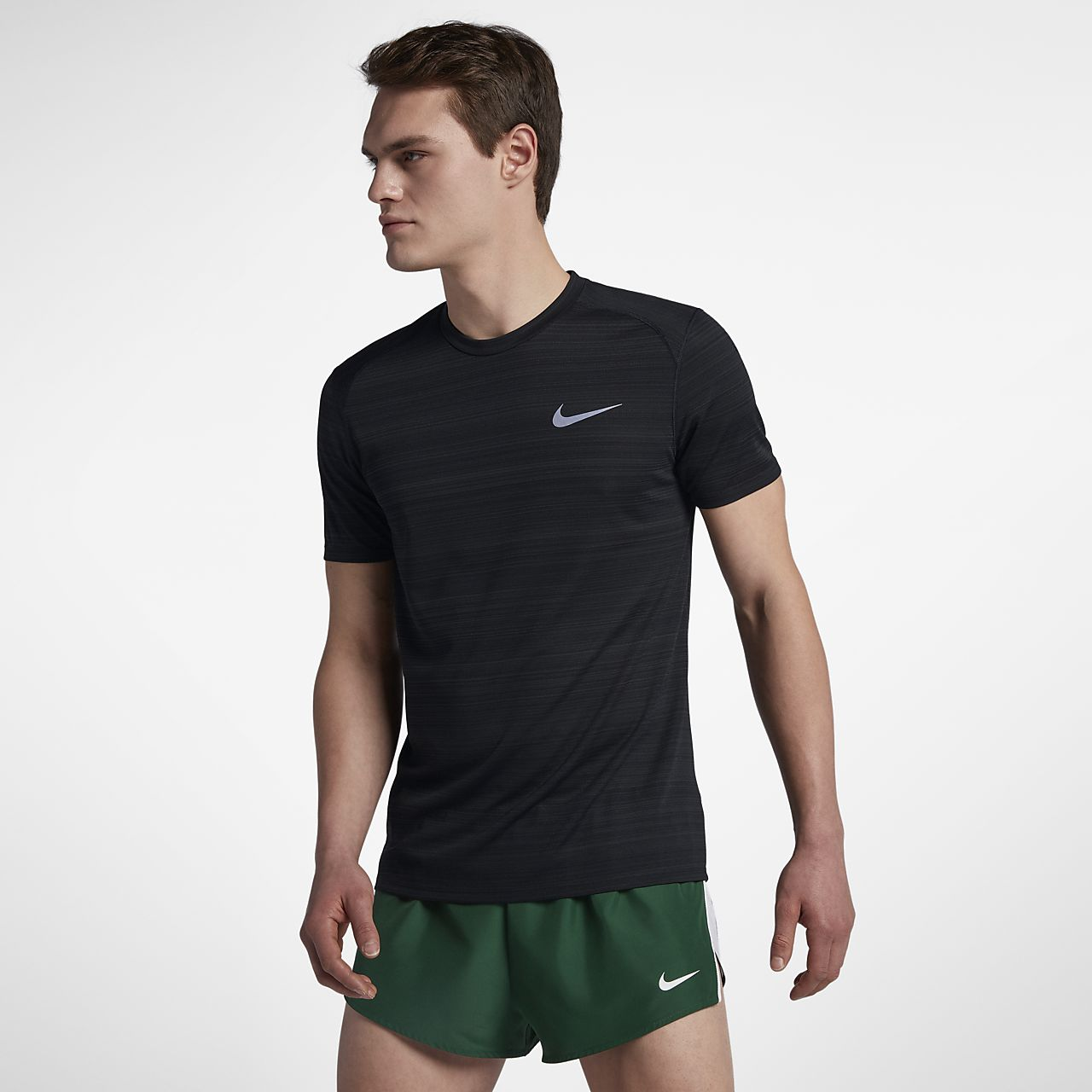 Nike dri fit miler men 39 s short sleeve running top for Buy dri fit shirts