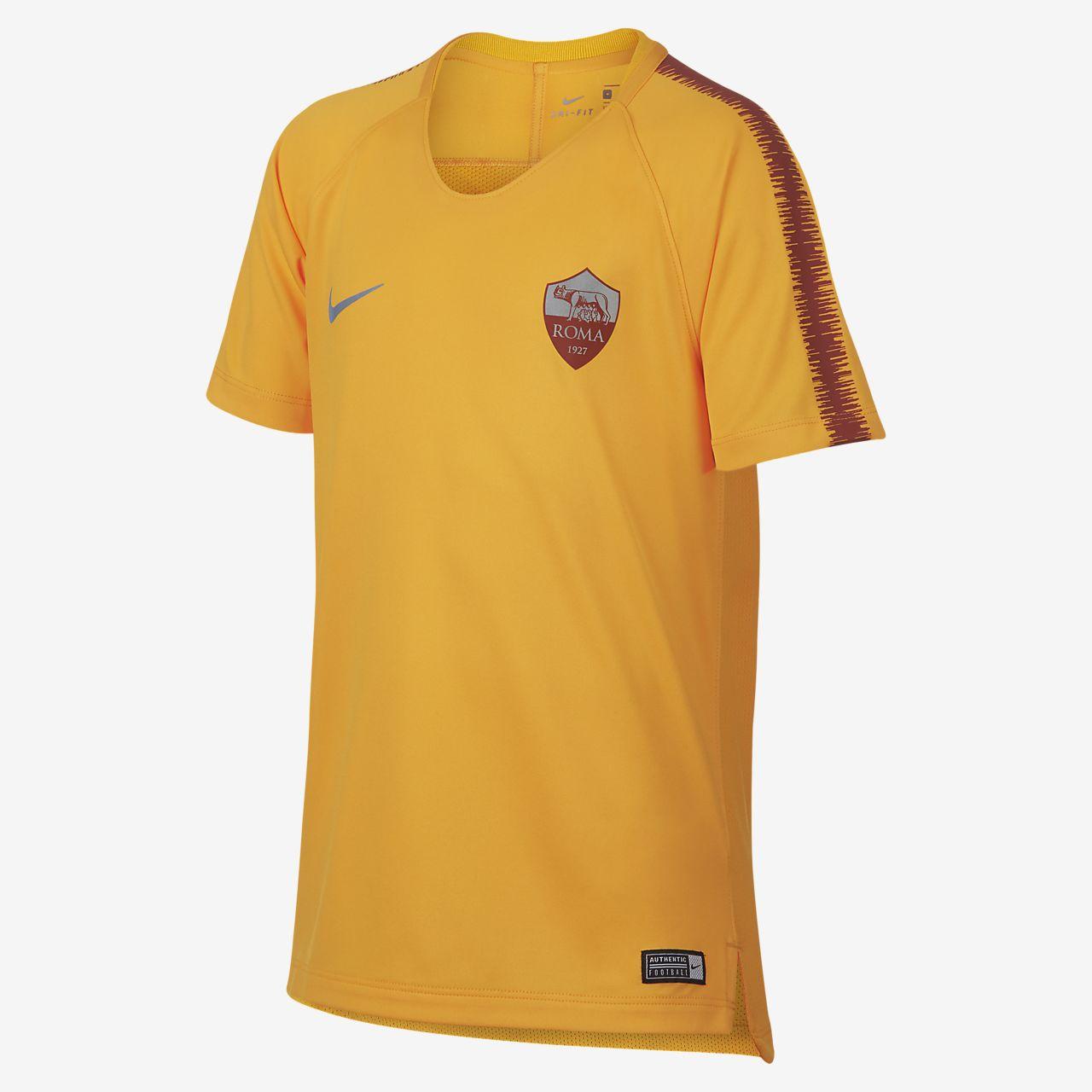 ce08d1a94 ... Camisola de futebol de manga curta Nike Breathe A.S. Roma Squad Júnior