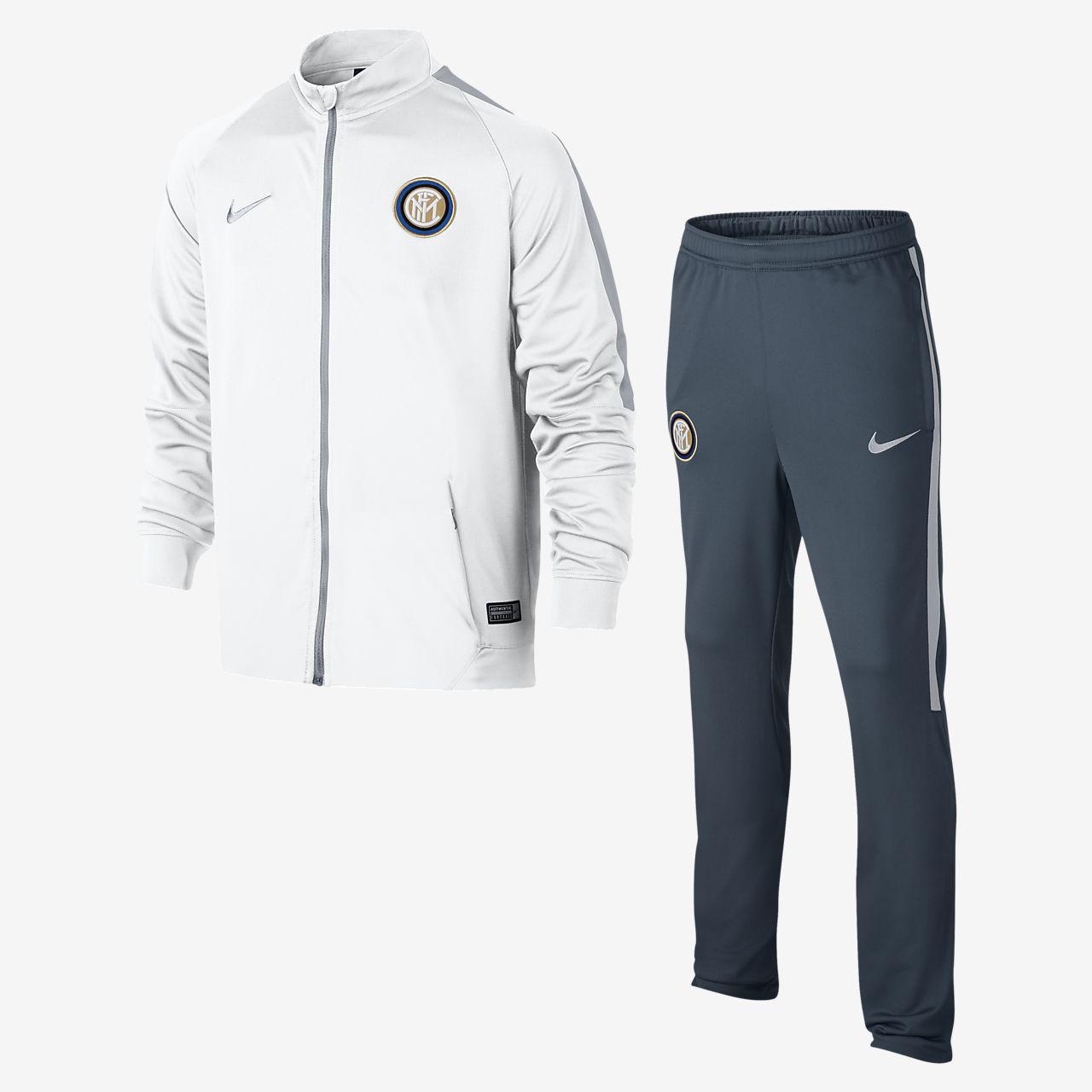 Conjunto de calentamiento de fútbol para niños talla grande Inter Milan (XS-XL)