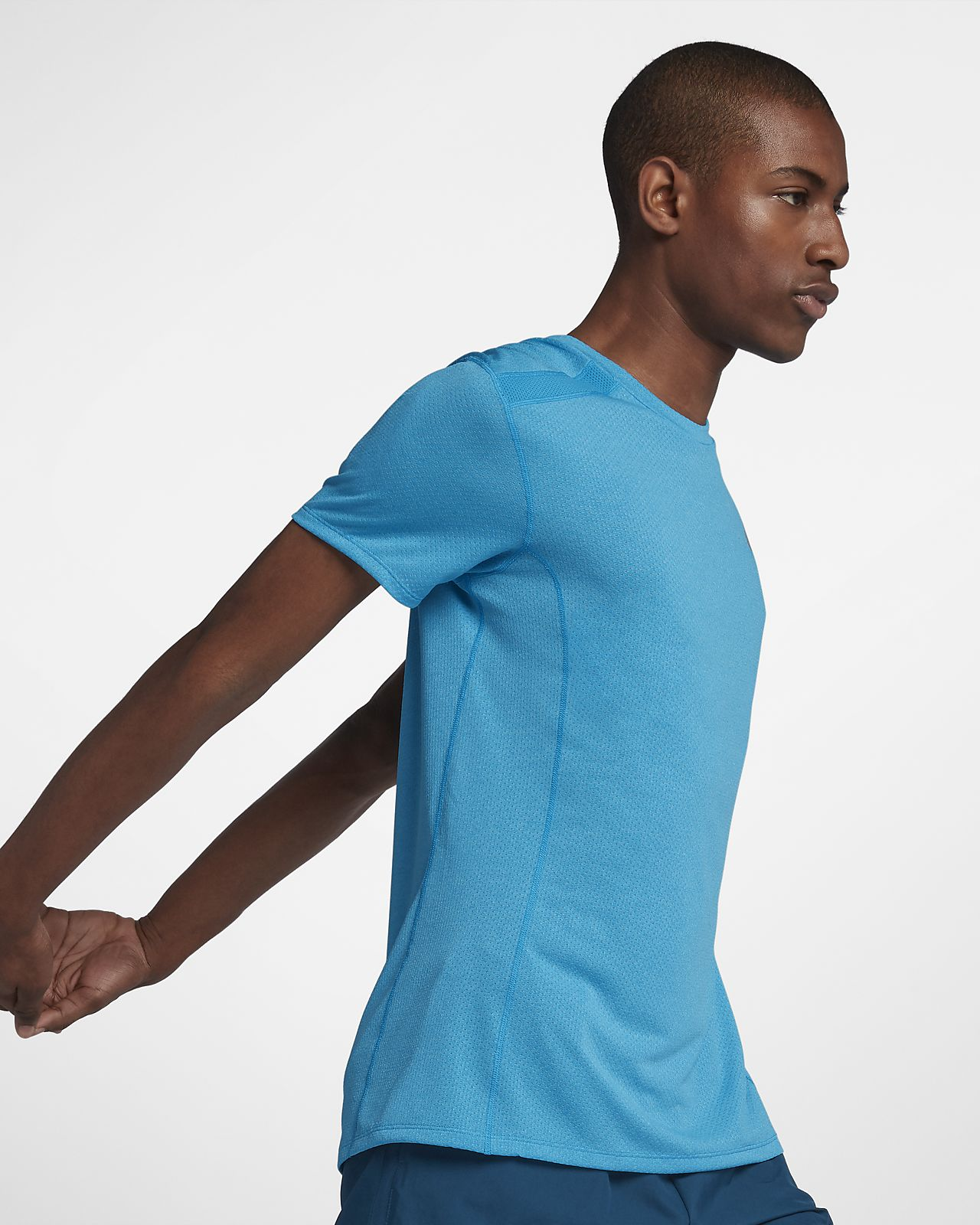 22c5fa893fd59 Nike Dri-FIT Miler Cool Men's Short-Sleeve Running Top. Nike.com GB