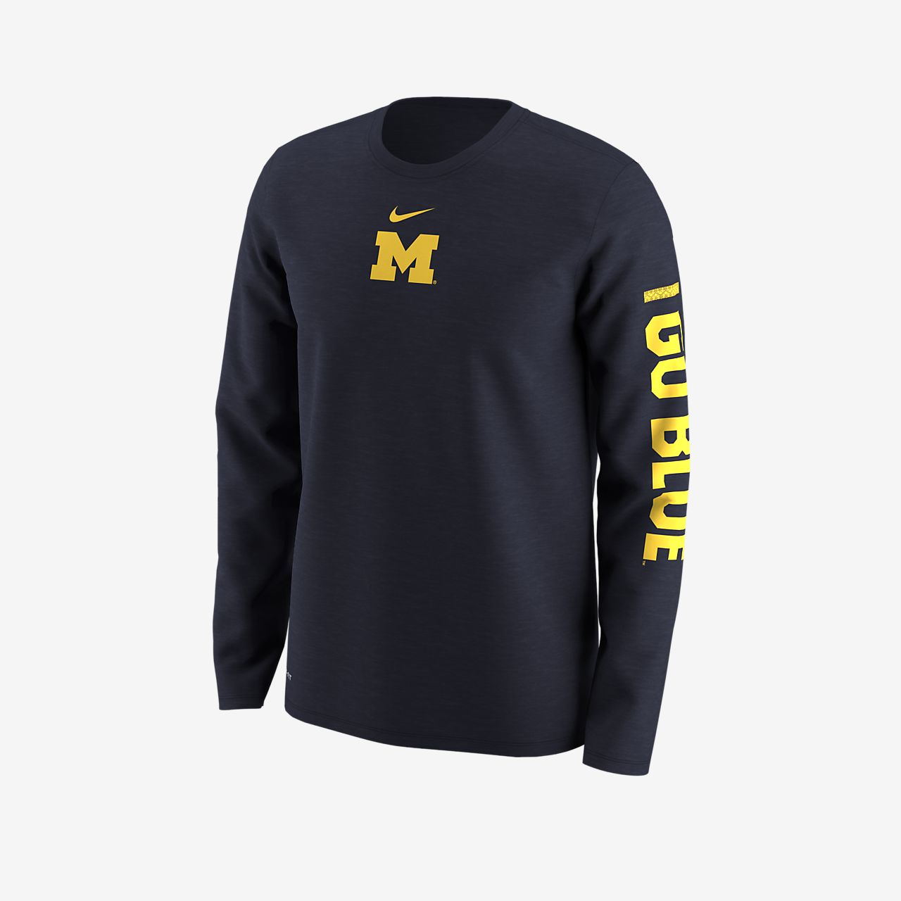Nike Dry College Legend (Michigan) Men's Long Sleeve T-Shirt. Nike.com
