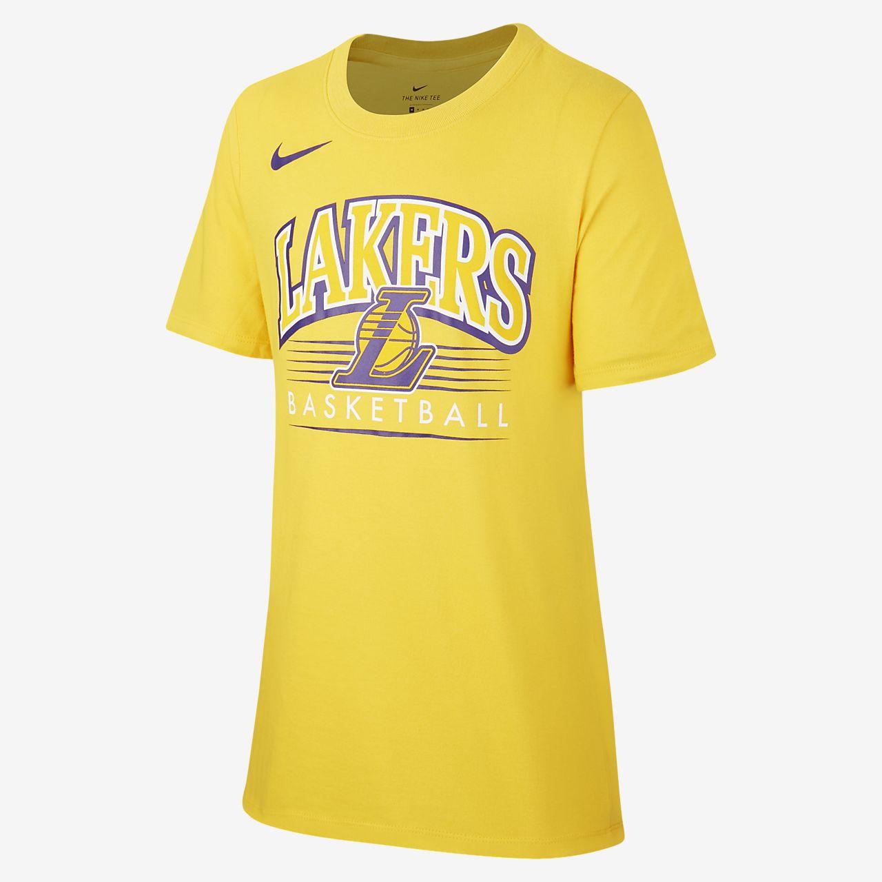 T-shirt NBA Los Angeles Lakers Nike Dri-FIT para rapaz