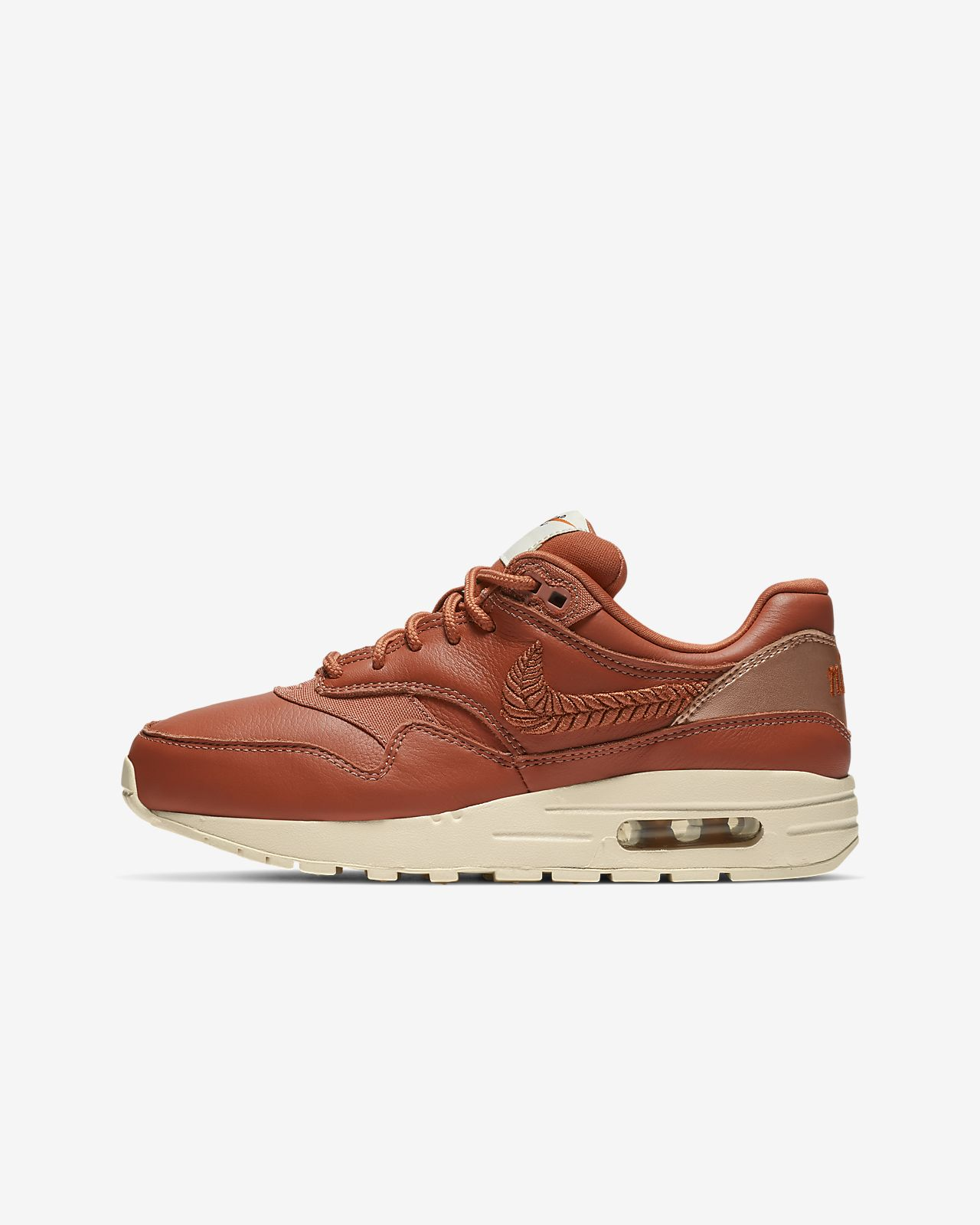on sale 607a2 1e00d ... Nike Air Max 1 Premium Embroidered Big Kids  Shoe