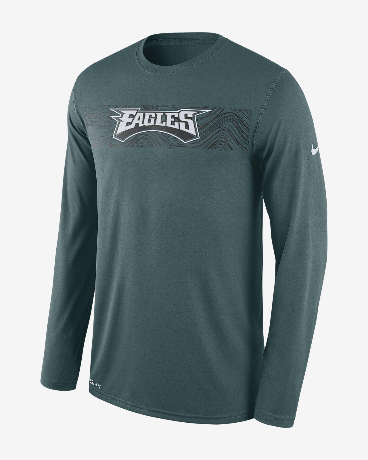 797680bee Nike Dri-FIT Legend Seismic (NFL Eagles) Men s Long Sleeve T-Shirt ...