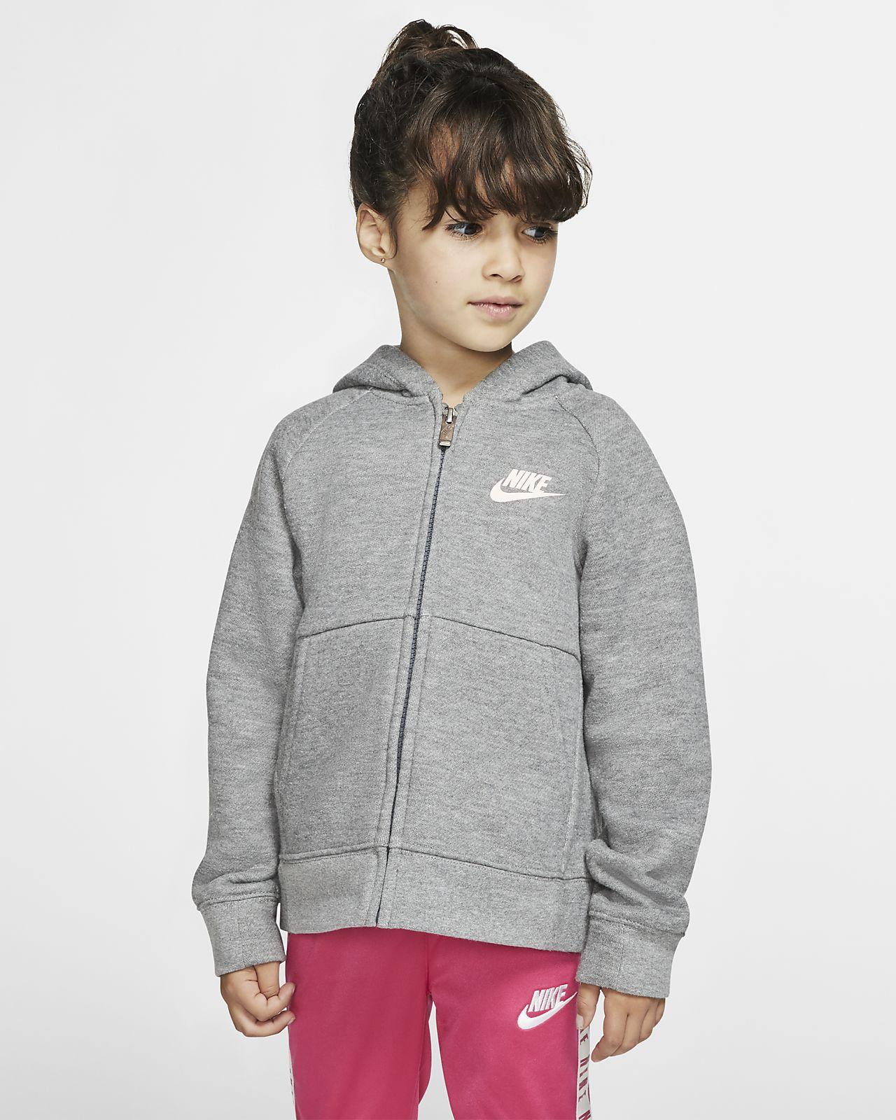 Felpa in fleece con cappuccio e zip a tutta lunghezza Nike Sportswear Bambini