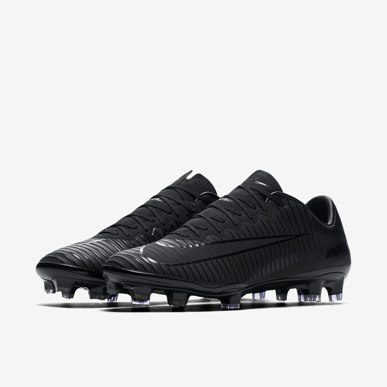 ... black white hyper turq mens soccer shoes soft spike football footw; nike  mercurial vapor xi firm ground football boot