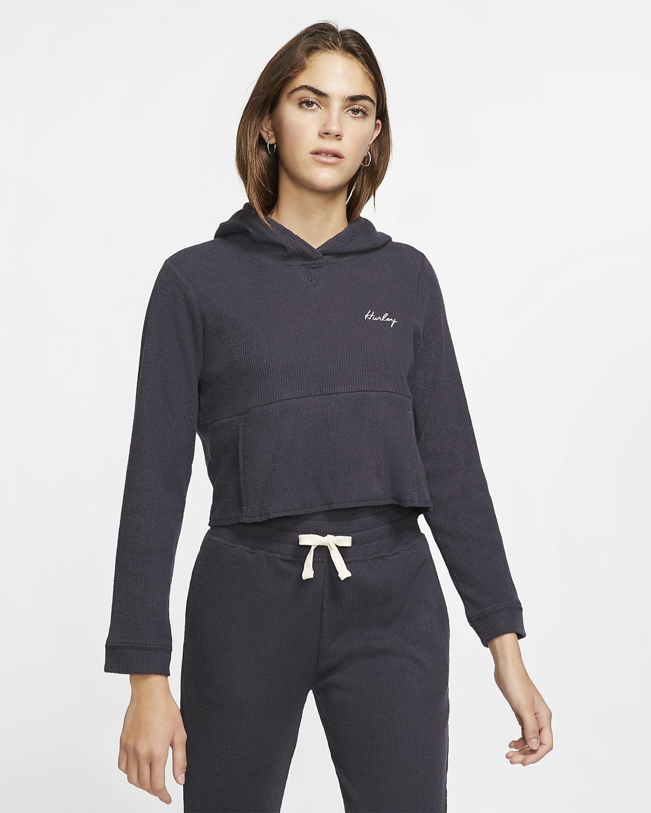 Hurley Chill Rib Women's Cropped Fleece Sweatshirt