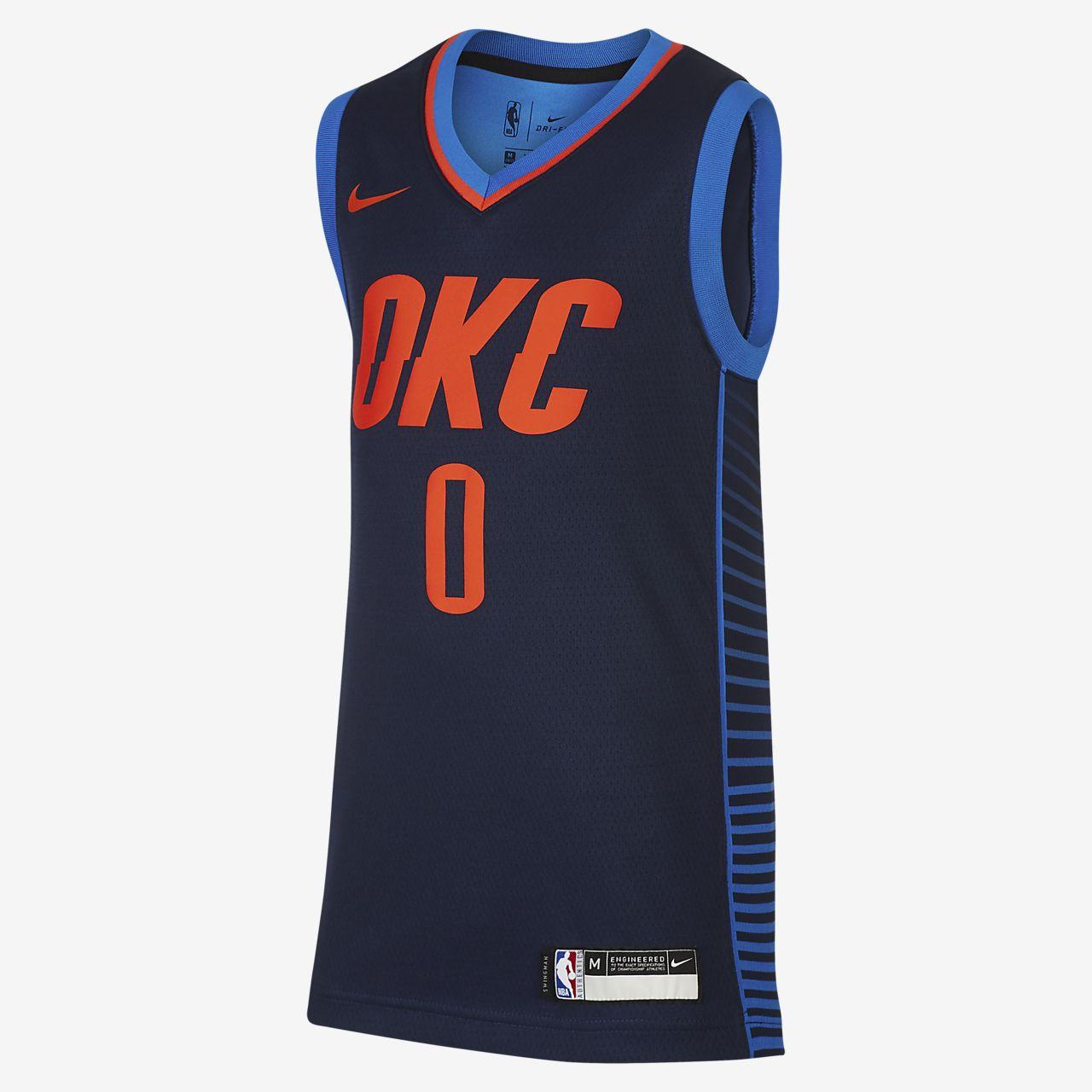 俄克拉荷马城雷霆队 Statement Edition SwingmanNike NBA Jersey大童(男孩)球衣
