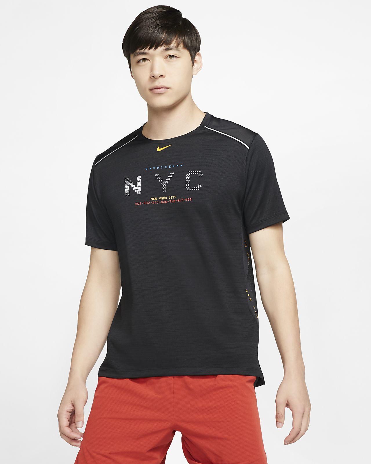Vêtements de sport Homme Nike Breathe Miler T Shirt Homme