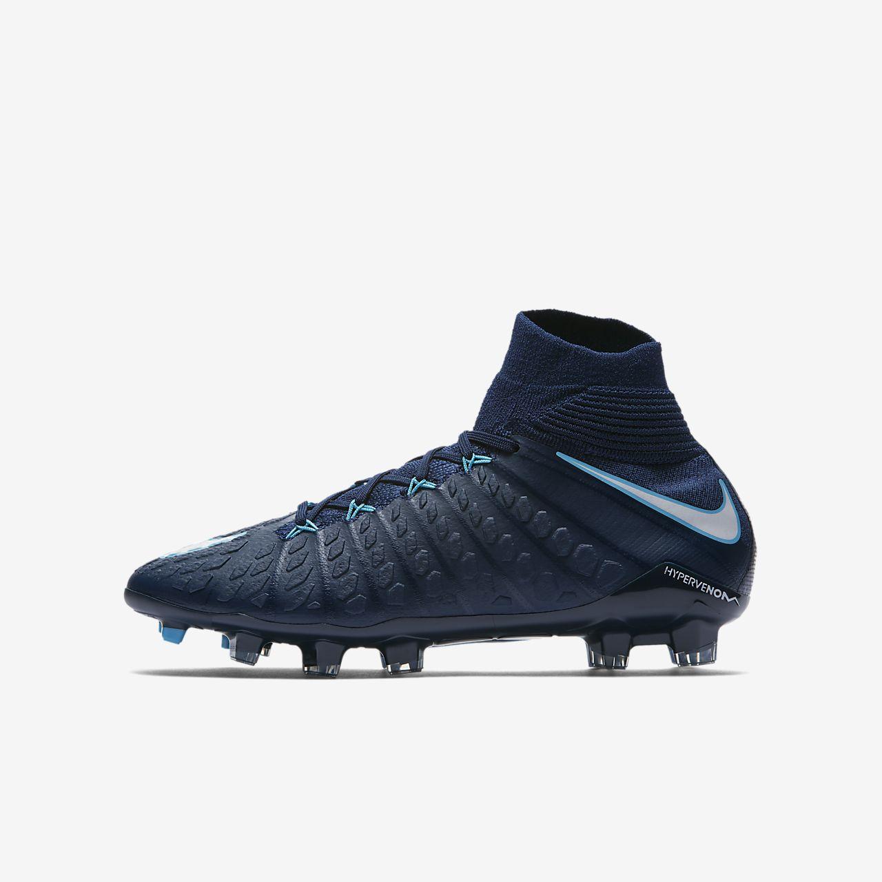 Nike Hypervenom Phantom 3 DF FG - Mens Football Boots - Blue/Navy