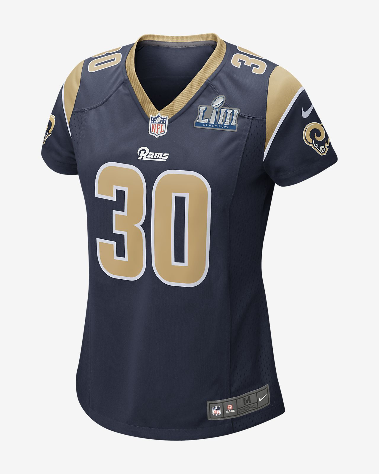 NFL Los Angeles Rams Super Bowl LIII (Todd Gurley) Women's Game Football Jersey