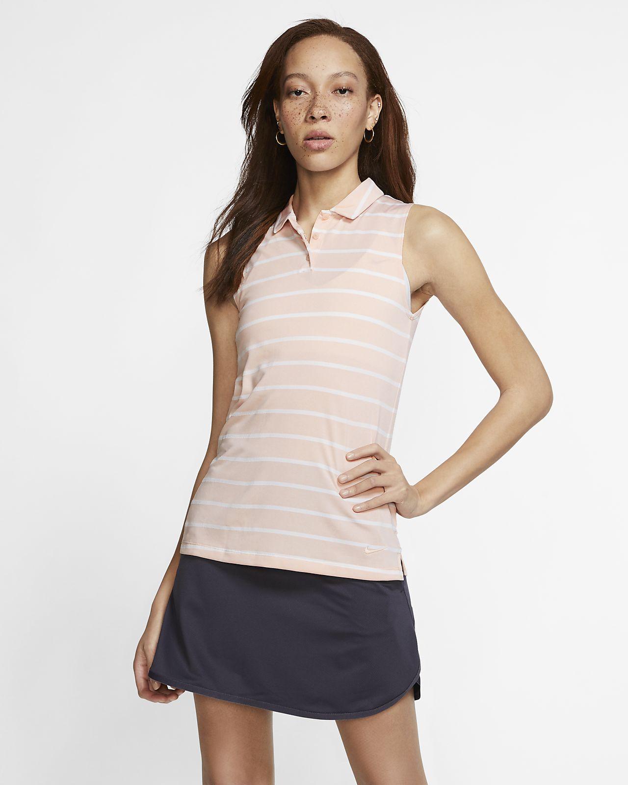 Nike Dri-FIT Women's Sleeveless Striped Golf Polo