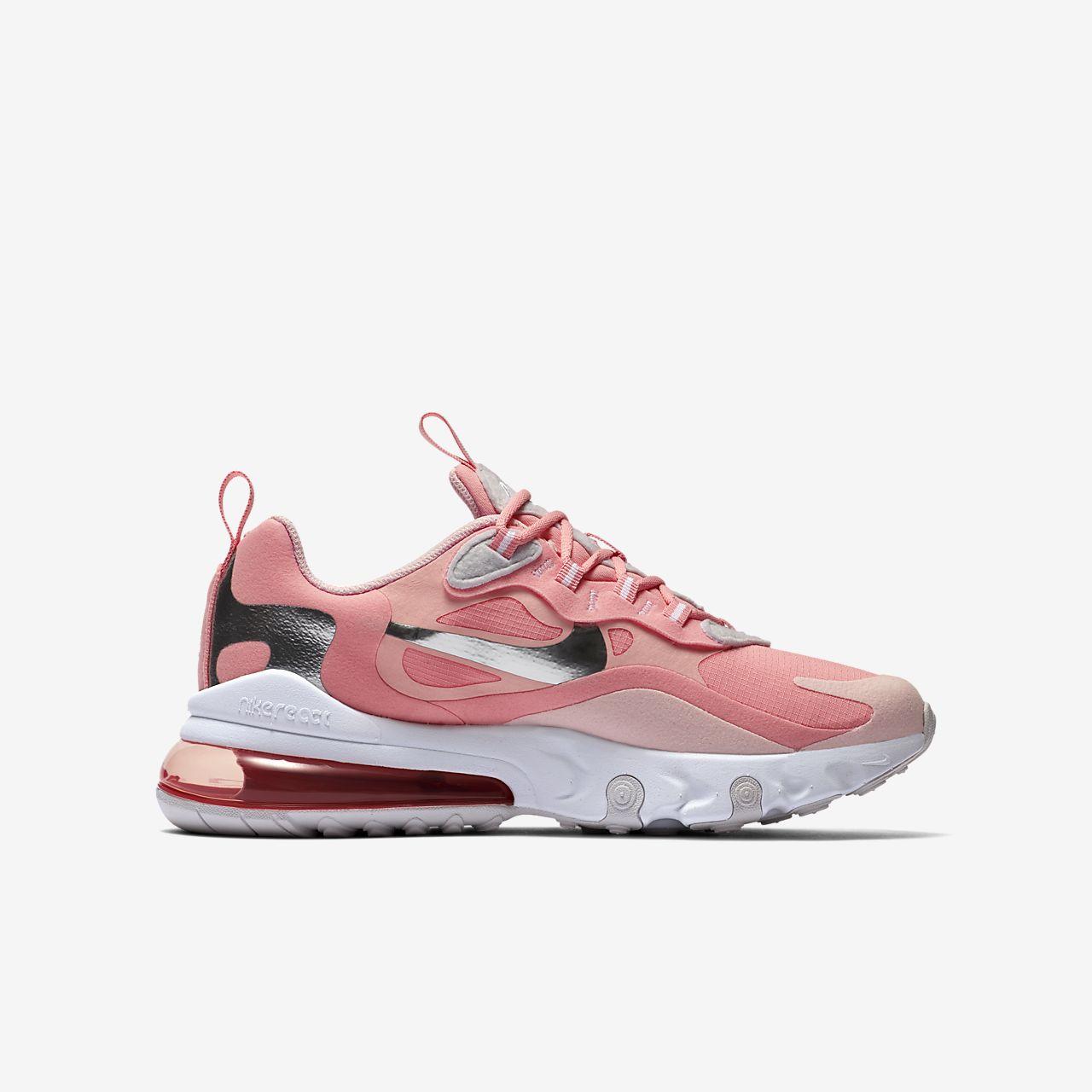 Nike scarpa Nike air max 270 react ragazzi bianco