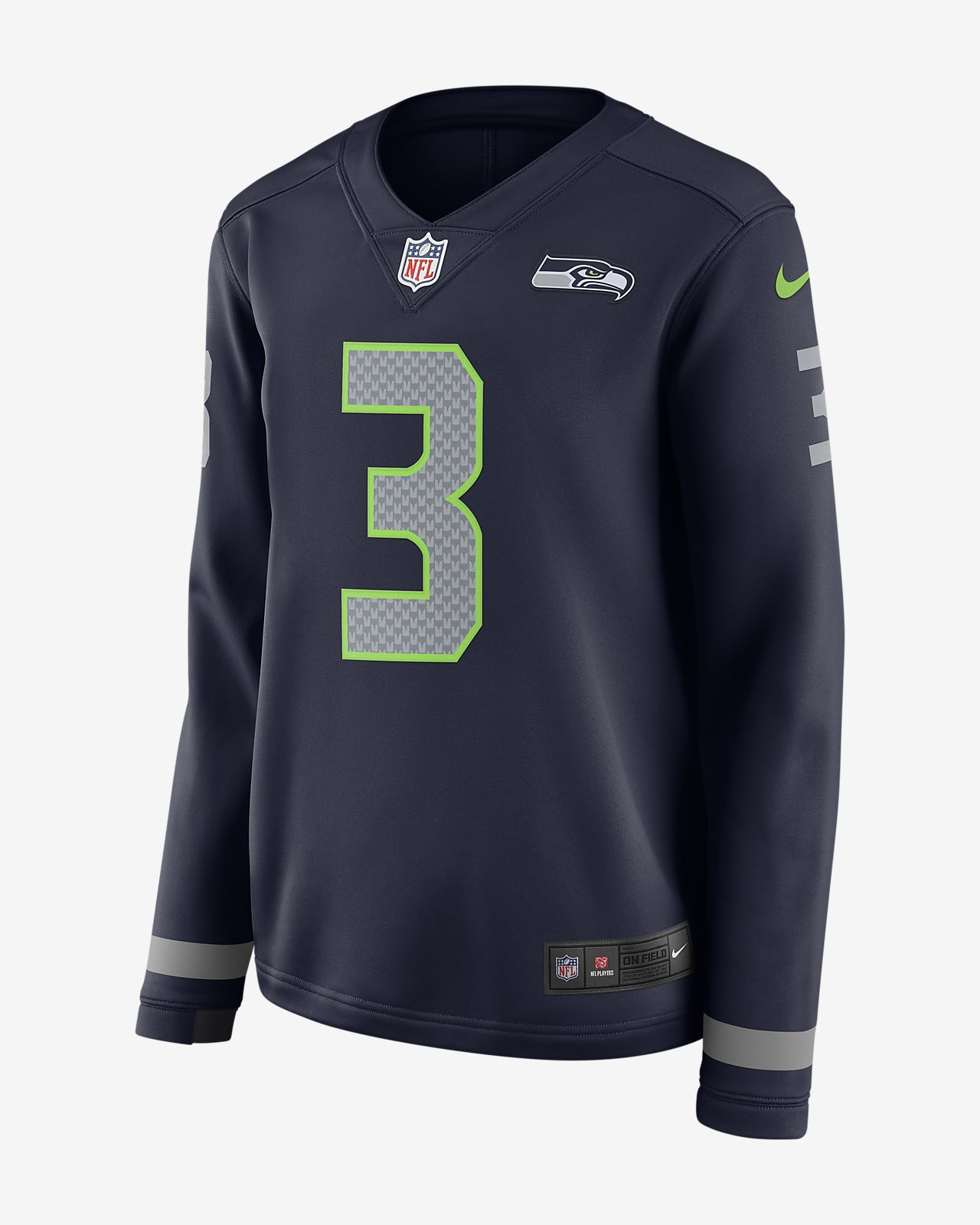 817865750 ... NFL Seattle Seahawks Jersey (Russell Wilson) Women's Long-Sleeve  Football Jersey