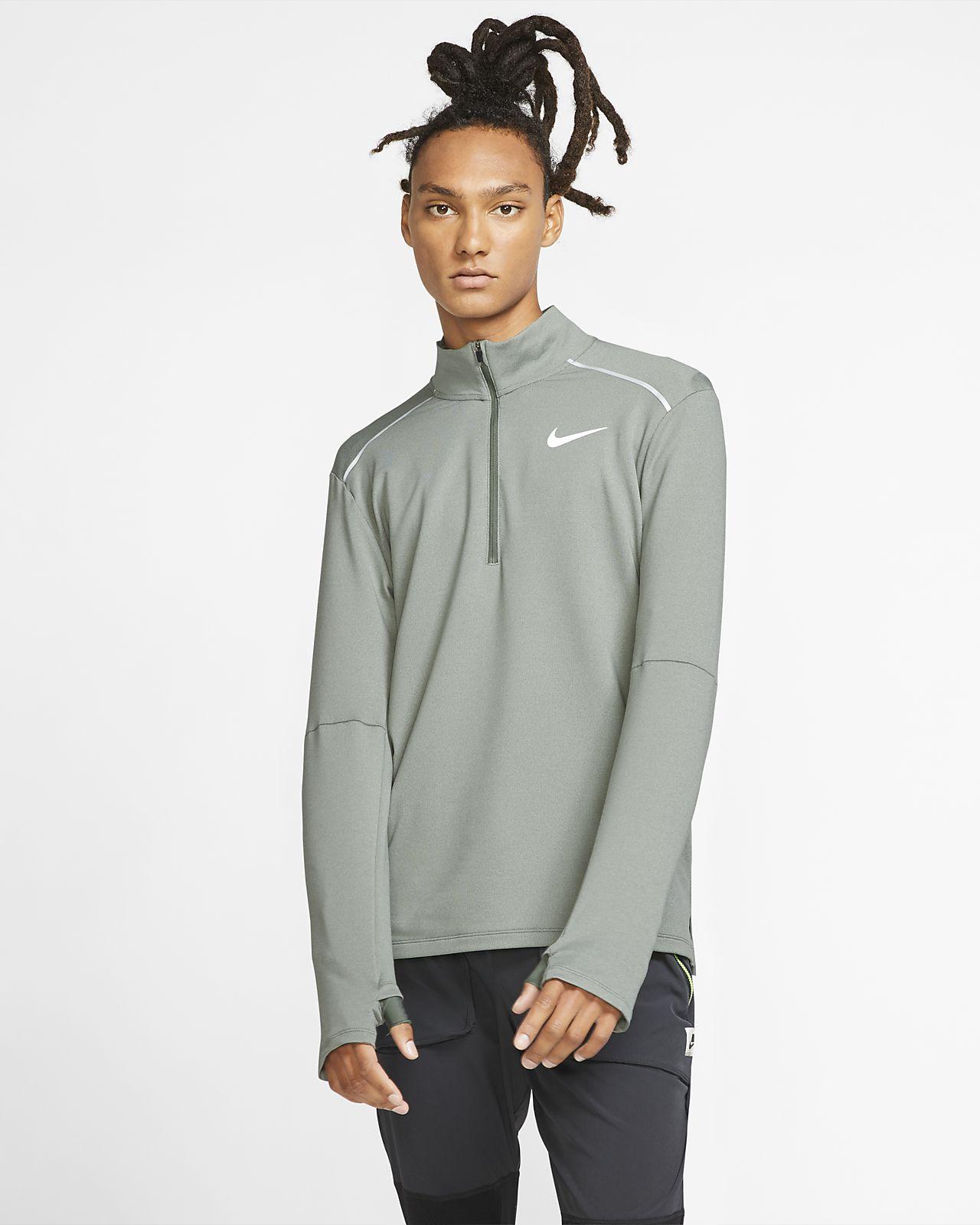 Pánské běžecké tričko Nike Element 3.0 s kulatým výstřihem a polovičním zipem