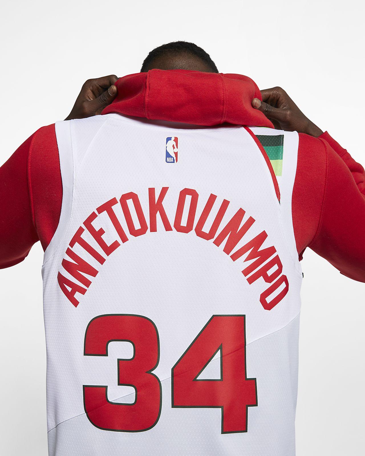 Giannis Antetokounmpo Earned City Edition Swingman (Milwaukee Bucks) Nike NBA Connected Trikot für Herren