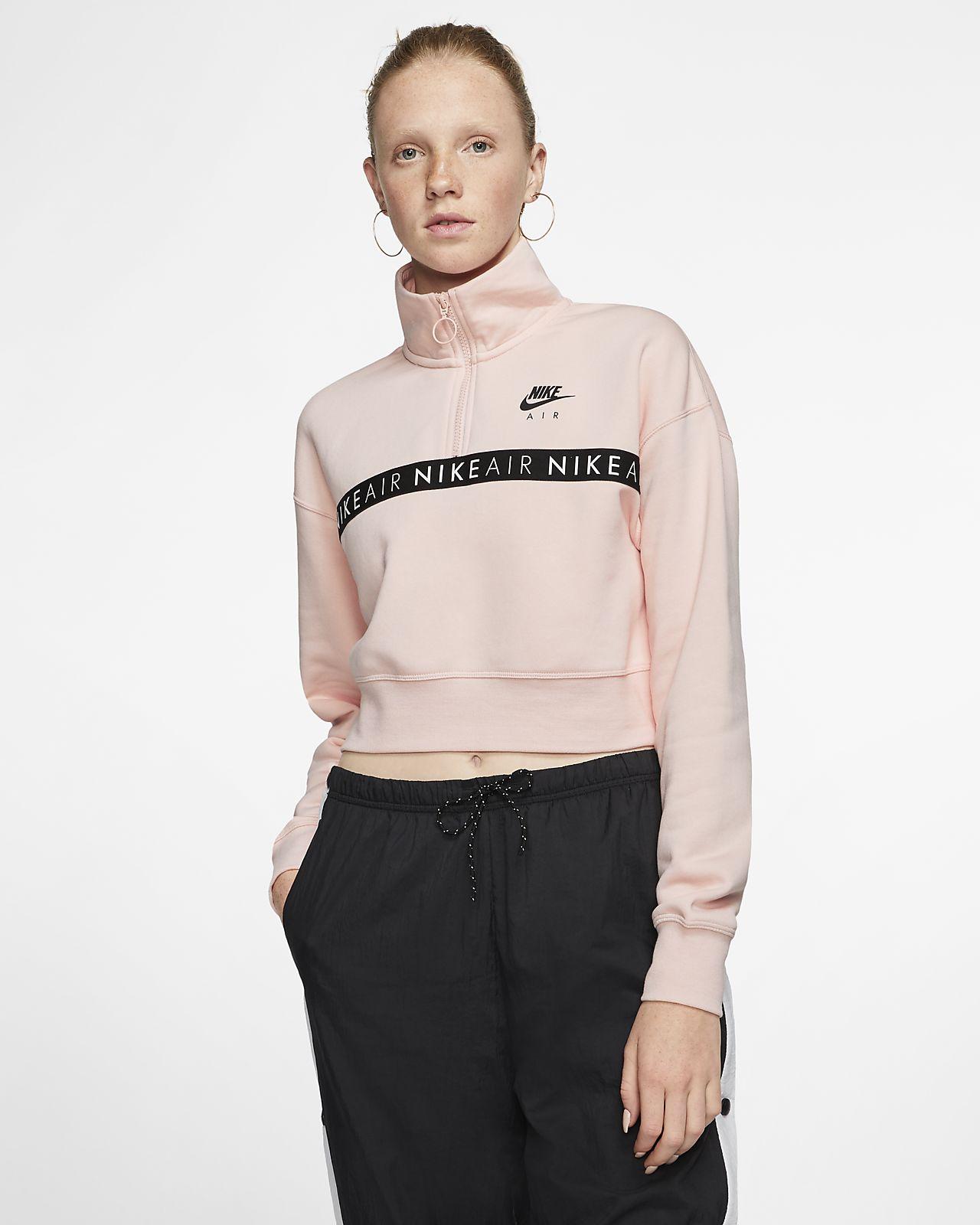 Top con zip a metà lunghezza Nike Air - Donna
