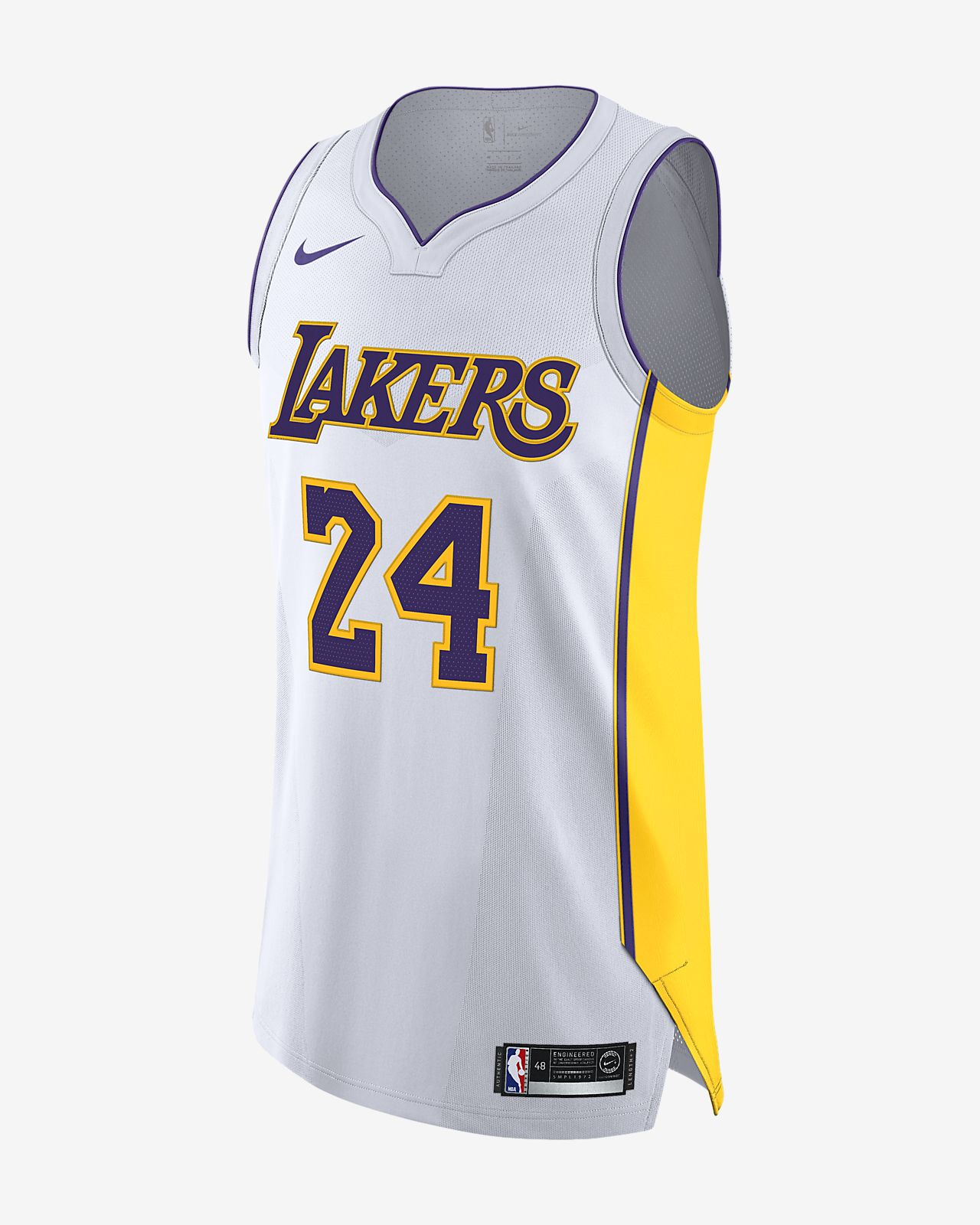 洛杉矶湖人队 (Kobe Bryant) Association Edition Authentic Nike NBA Connected Jersey 男子球衣