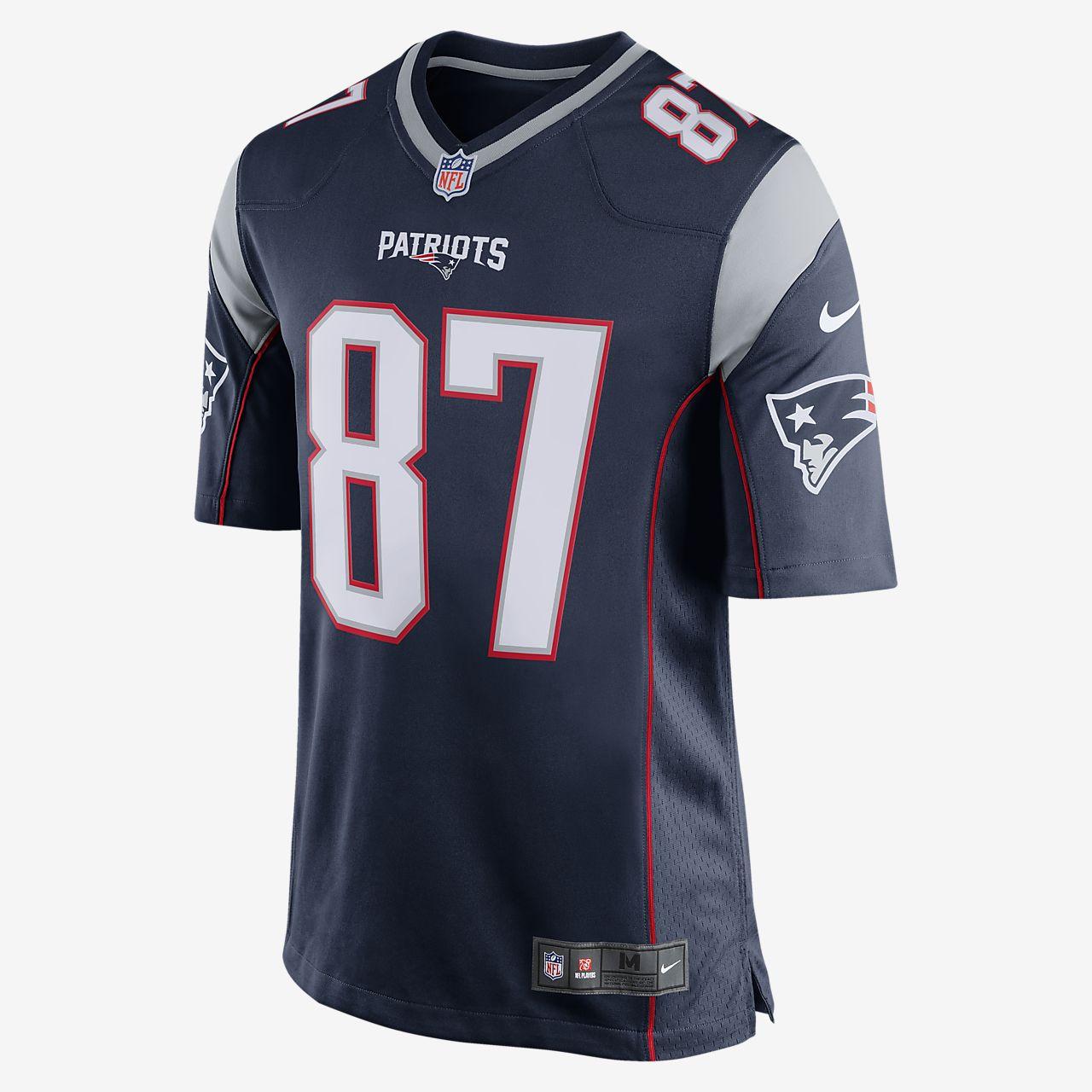 Camiseta de fútbol americano para hombre NFL New England Patriots (Rob  Gronkowski) c361f8eac71