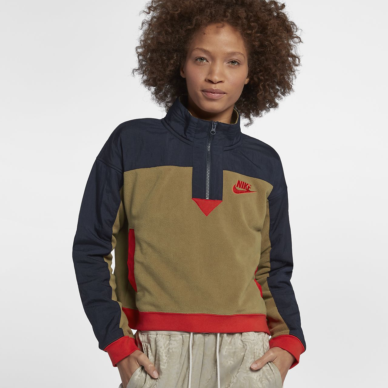 Demi À Haut Sportswear Zip Nike Femme Pour qHdFF5f1wx