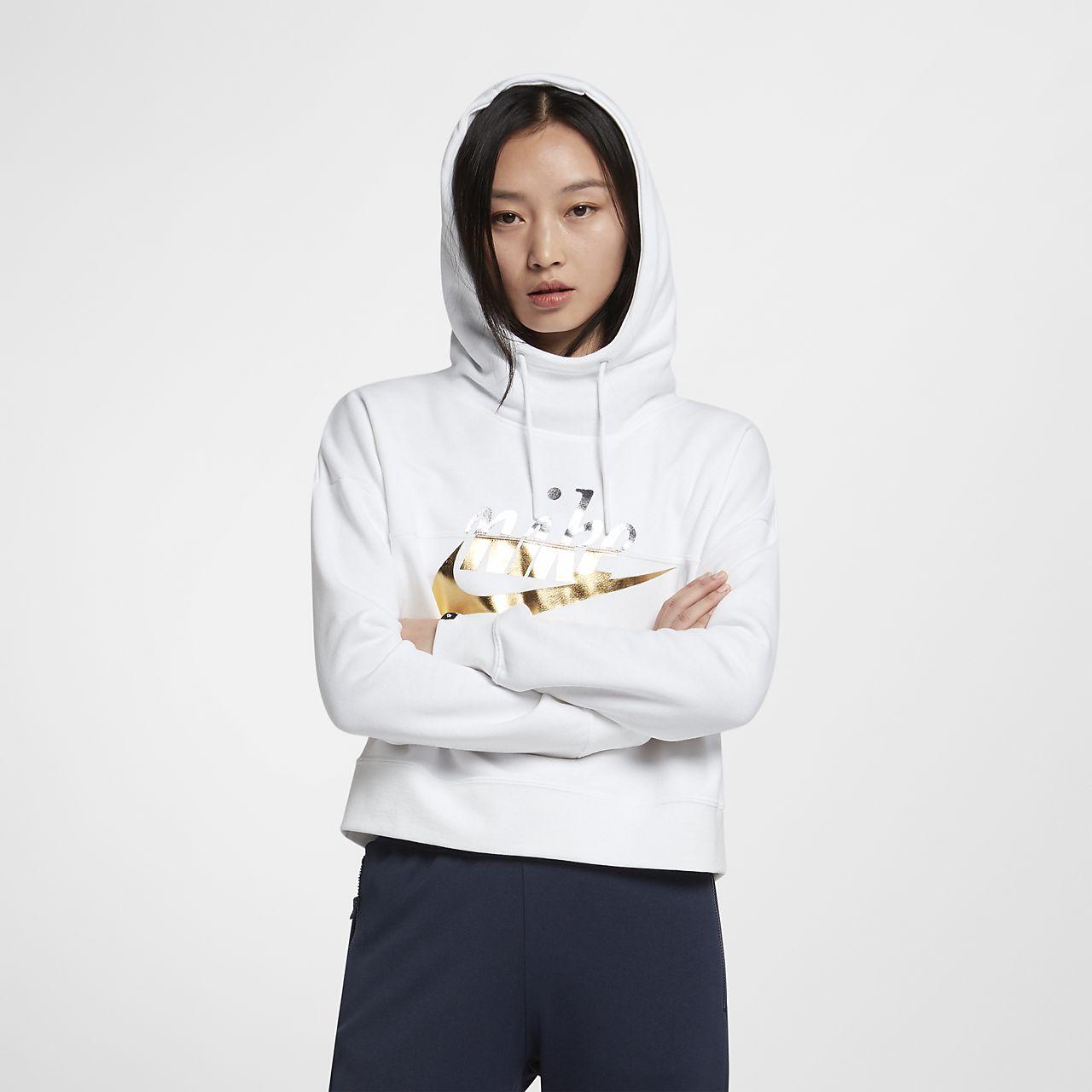 0113152a93737 Nike Sportswear Rally Women s Metallic Hoodie. Nike.com IN