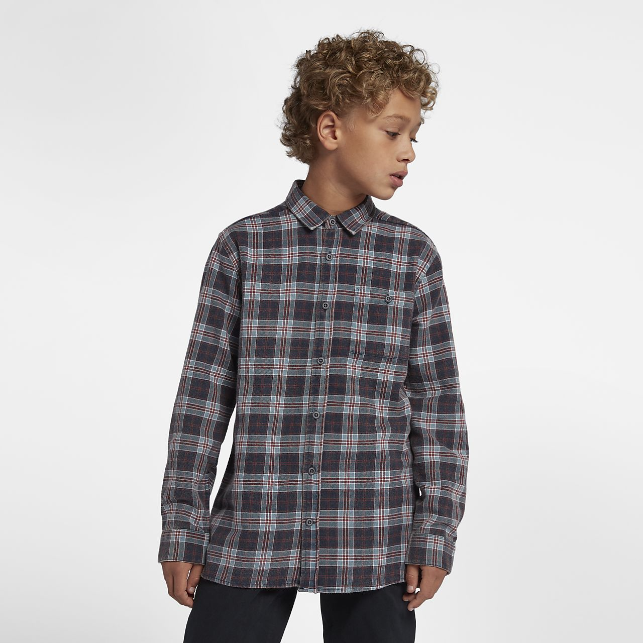 Hurley Ranger Boys' Woven Long-Sleeve Top