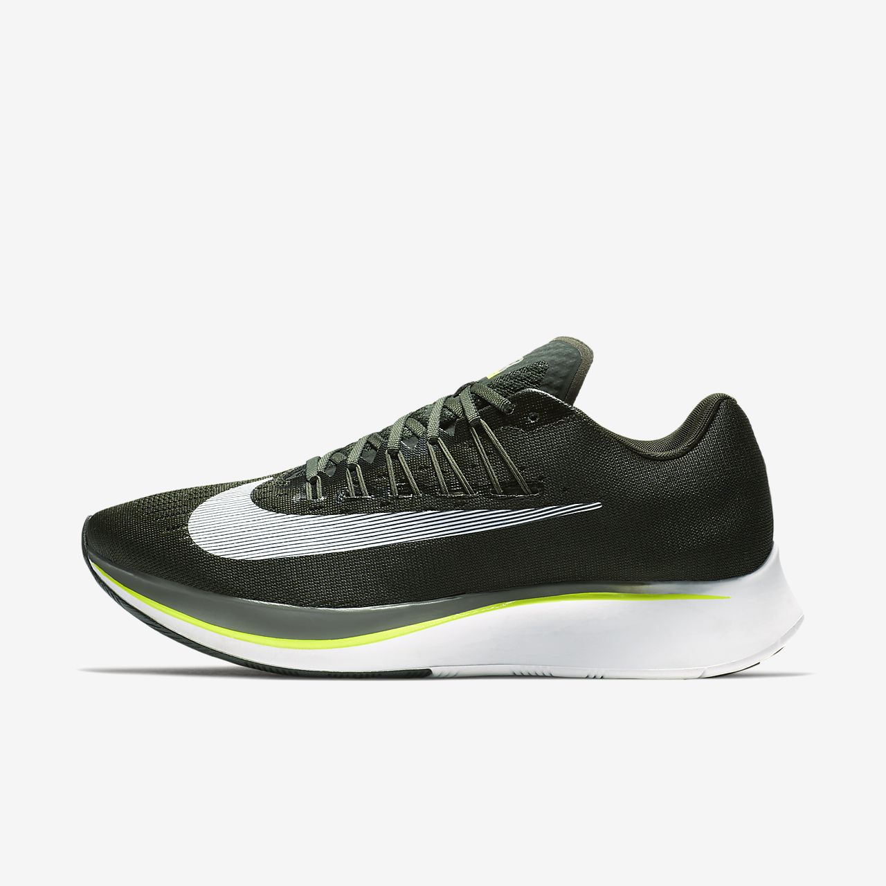 Nike Performance ZOOM FLY - Chaussures de running compétition - black/anthracite kCFkrpB