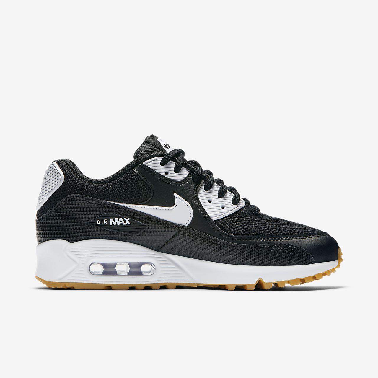 e6394e54e52 scarpa nike air max 90 nero gum light brown bianco bianco 325213-055
