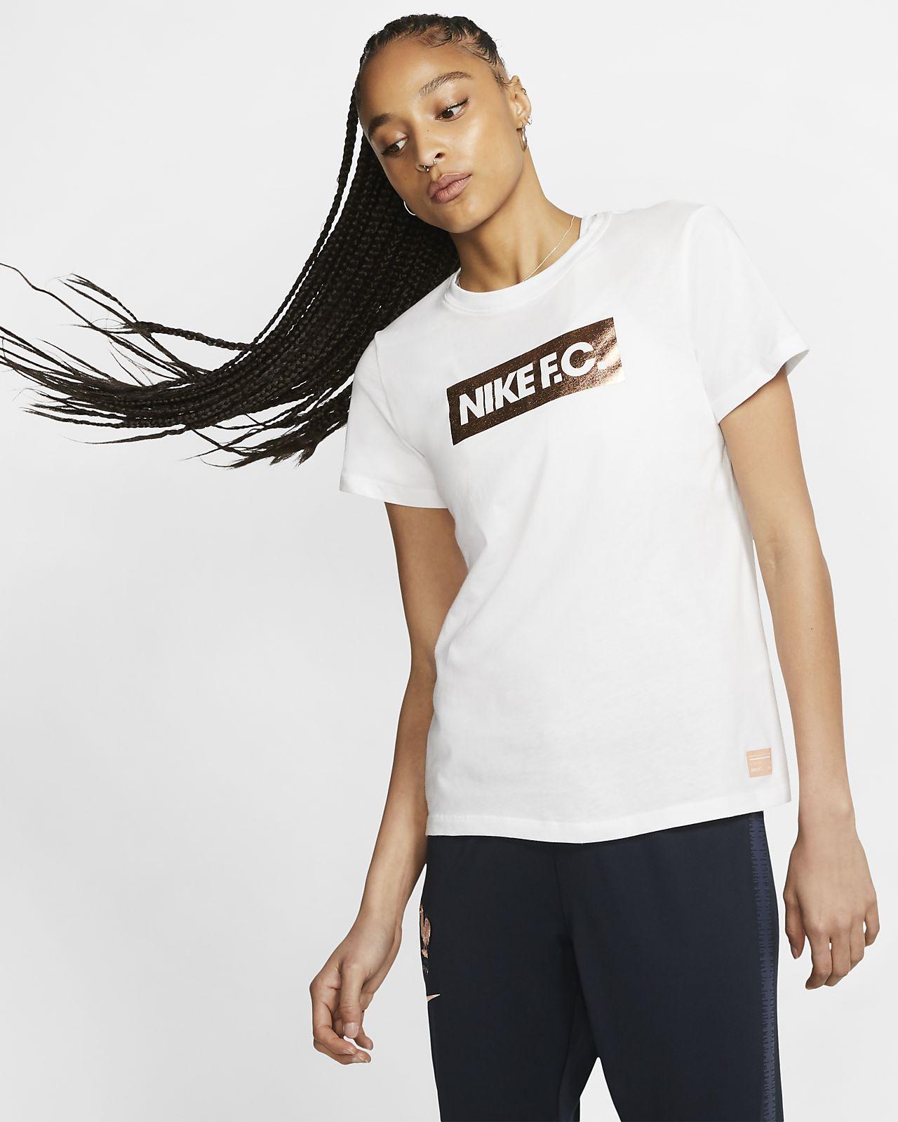 Fotbolls-t-shirt Nike F.C. för kvinnor