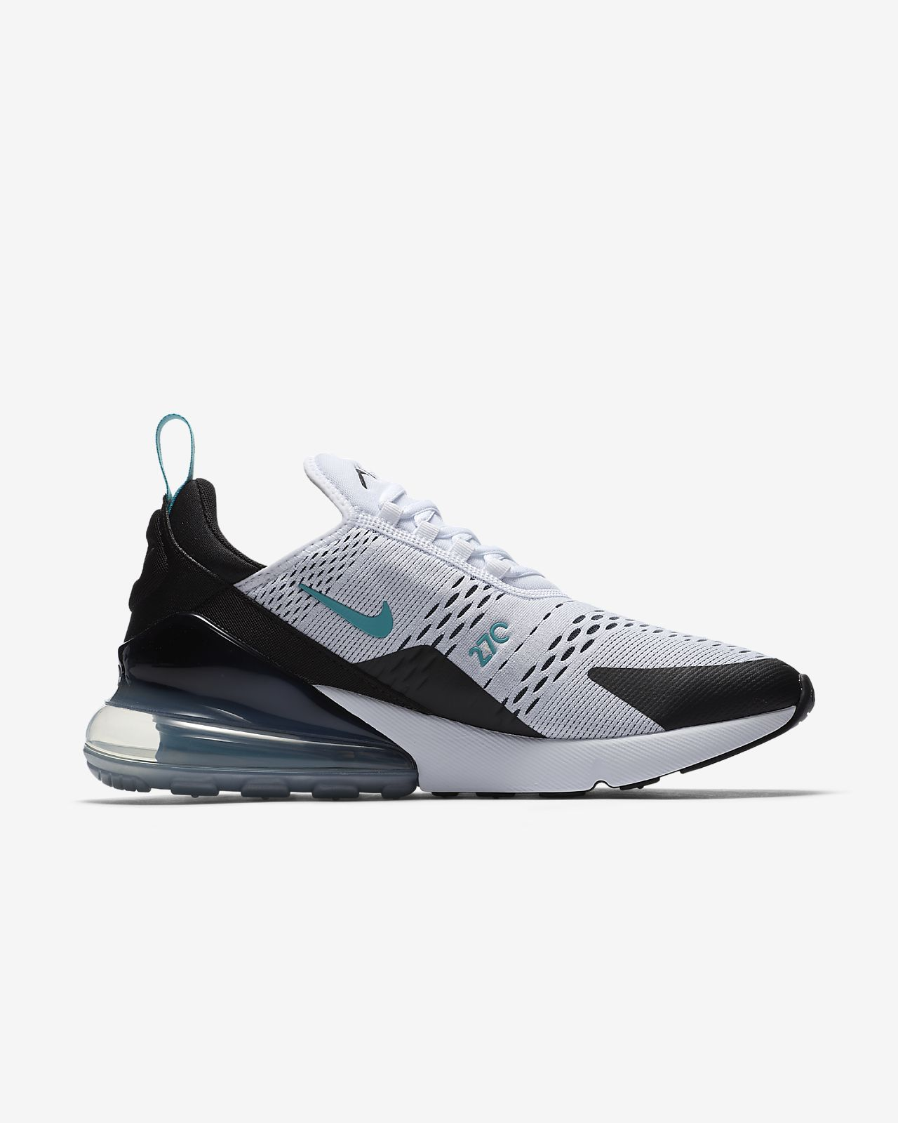 Comfortable Nike Air Force 270 Black White Men's Casual