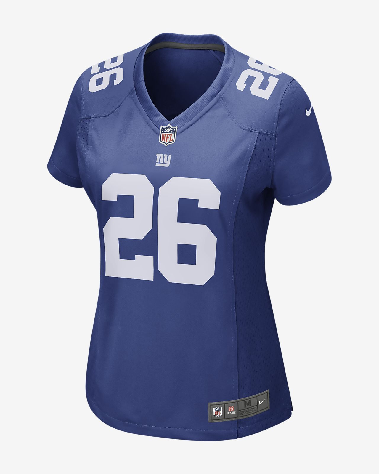 6032cb830 NFL New York Giants Game (Saquon Barkley) Women s Football Jersey ...