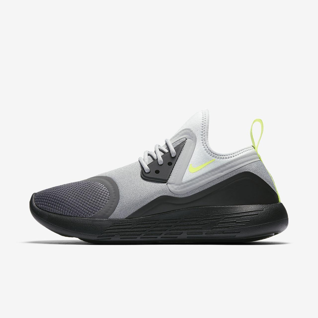 Nike LunarCharge Essential BN Shoes Dark Grey/Black/Volt