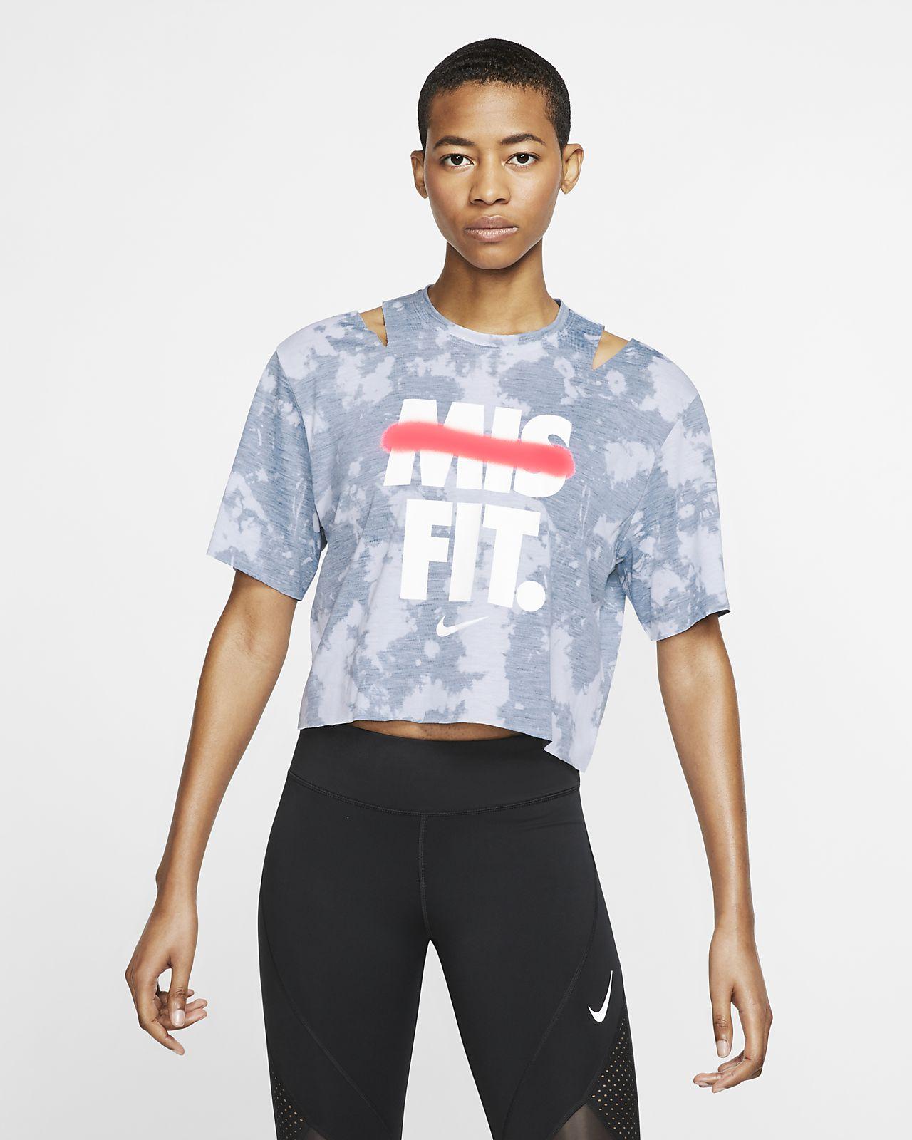 Nike Samarreta de màniga curta estampada d'entrenament - Dona