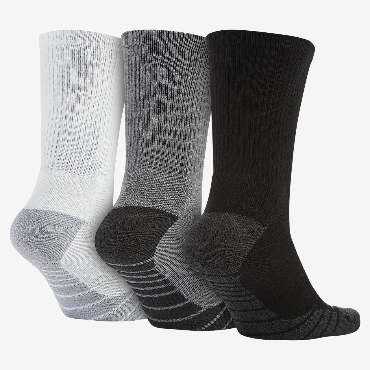 378601c09f594 Nike Dry Cushion Crew Training Socks (3 Pair). Nike.com GB