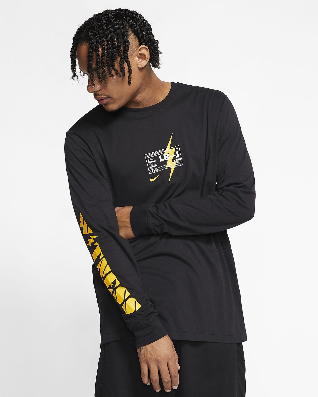 "T-shirt de basquetebol Nike Dri-FIT LeBron ""LB-J"" para homem"