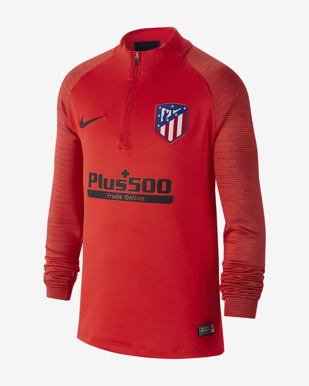 Fotbalové tréninkové tričko Nike Dri-FIT Atlético de Madrid Strike pro větší děti