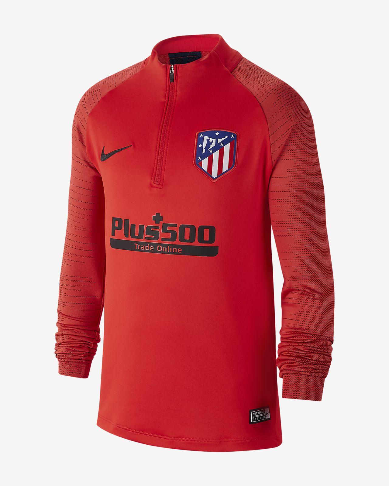 Prenda para la parte superior de entrenamiento de fútbol para niño talla grande Atlético de Madrid Strike