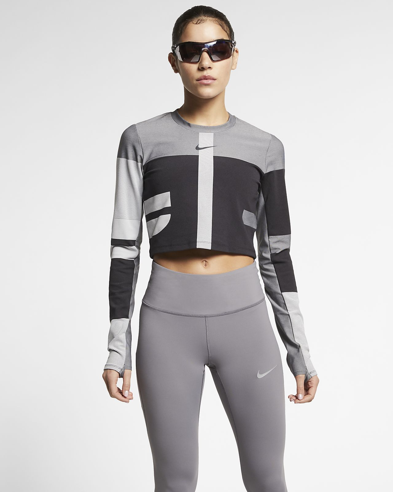 Top da running in maglia Nike Tech - Donna