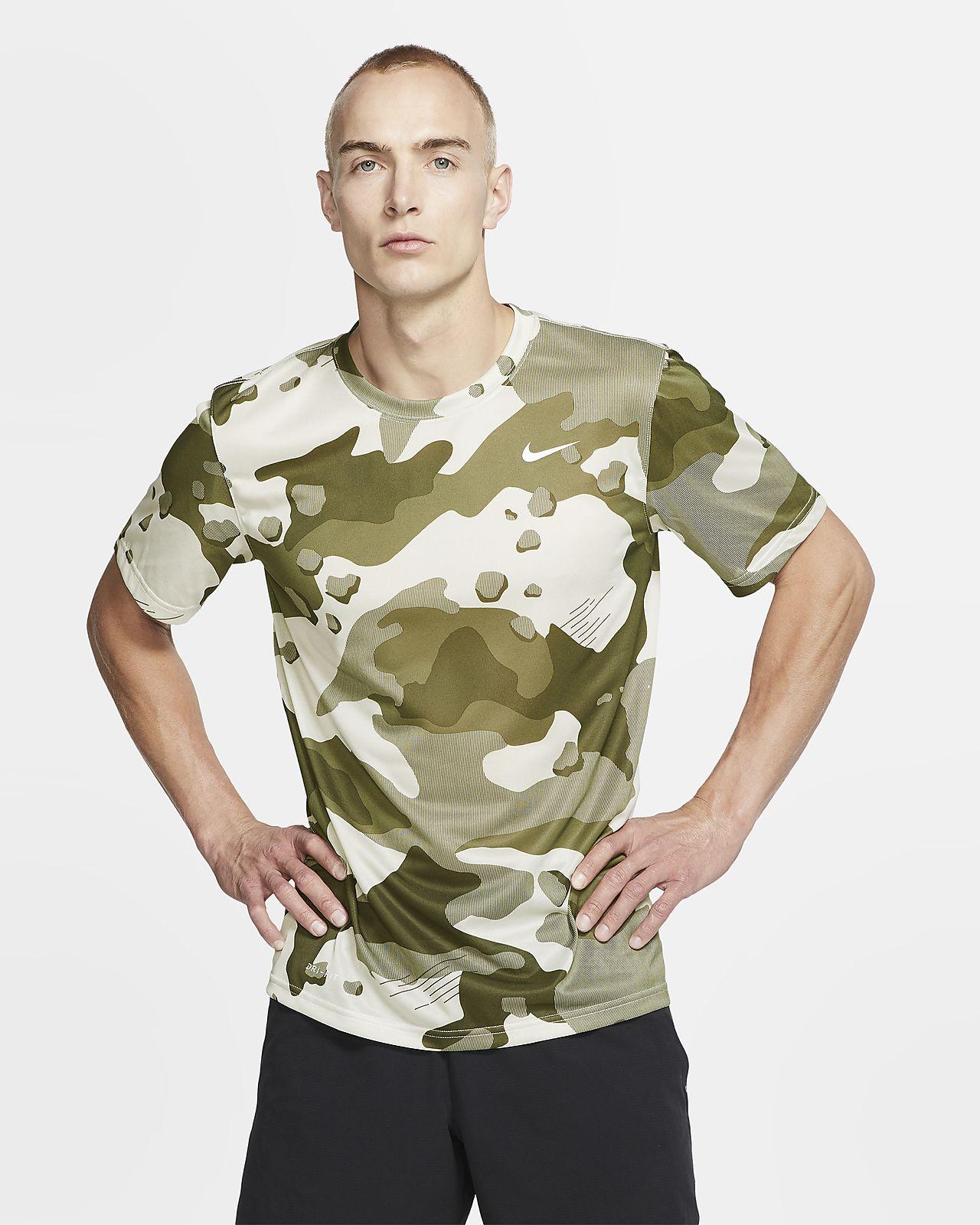 Męski T-shirt treningowy moro Nike Dri-FIT
