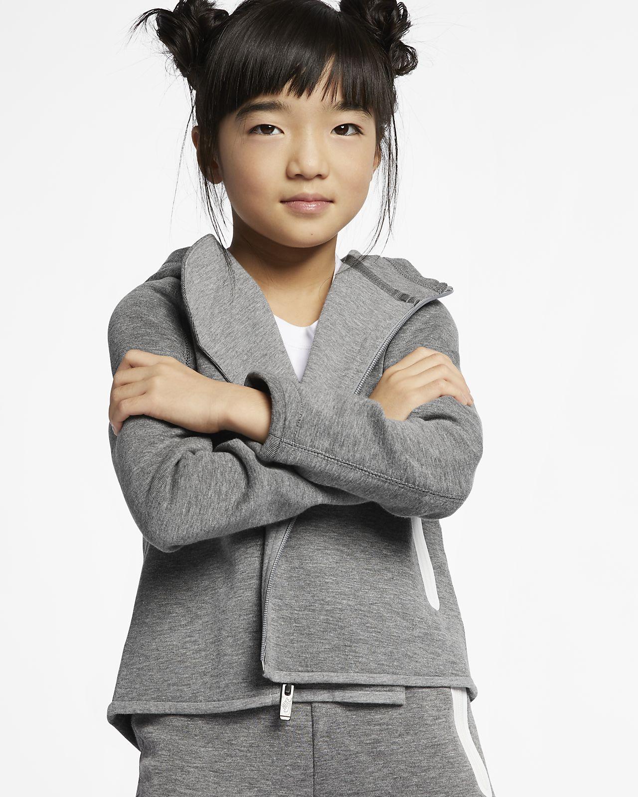 Rozpinana bluza z kapturem dla małych dzieci Nike Sportswear Tech Fleece