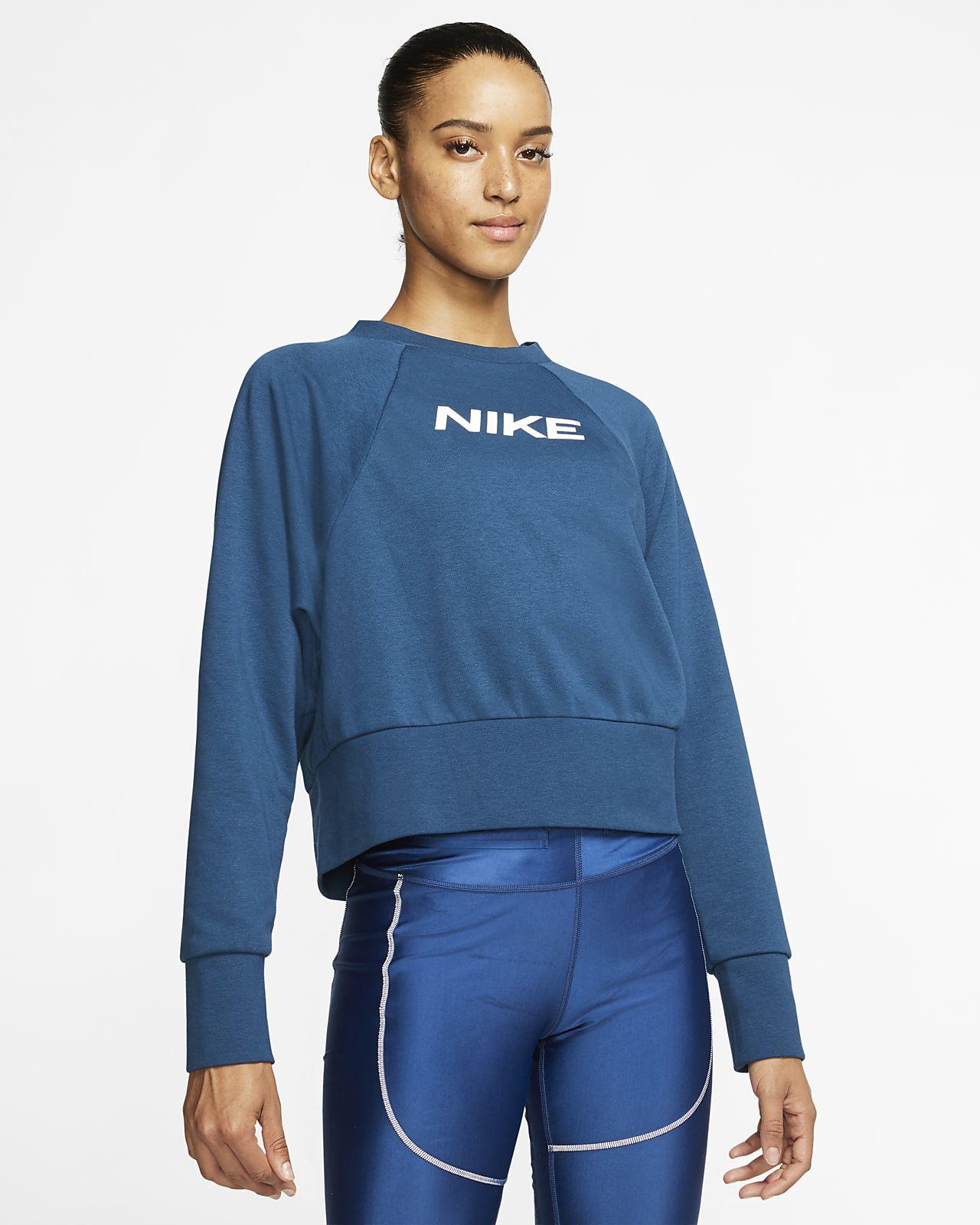 Dámská tréninková mikina Nike Dri-FIT Get Fit s kulatým výstřihem