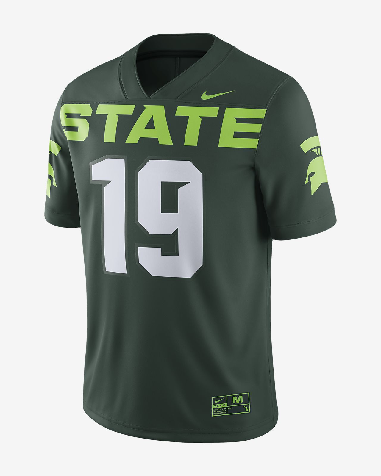 buy online 31986 e50d8 Nike College Game (Michigan State) Men's Football Jersey