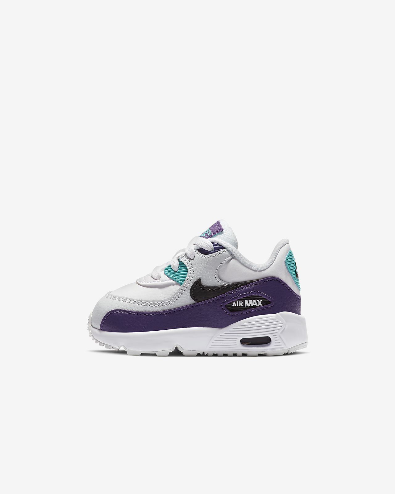 8df3987e0b16 Nike Air Max 90 Leather Baby  amp  Toddler Shoe. Nike.com AE