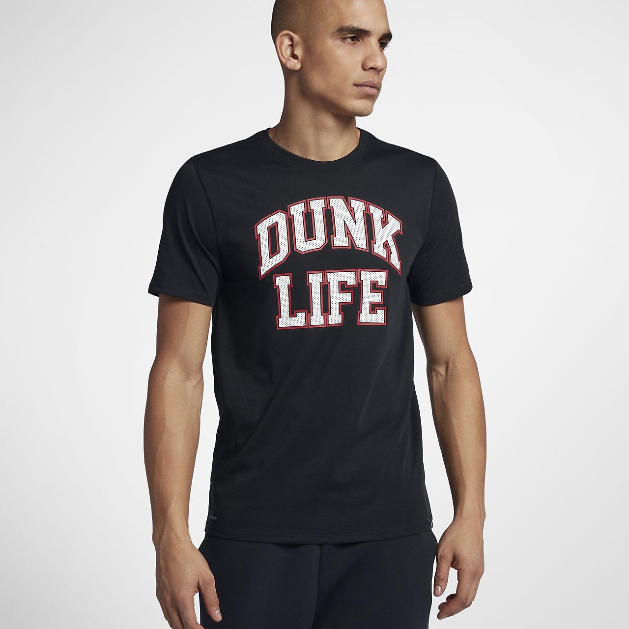 » Dunk Jordan Tee Basketball « Shirt Wfnp7oqxp Homme Pour Life Ca Rise n08wOPk
