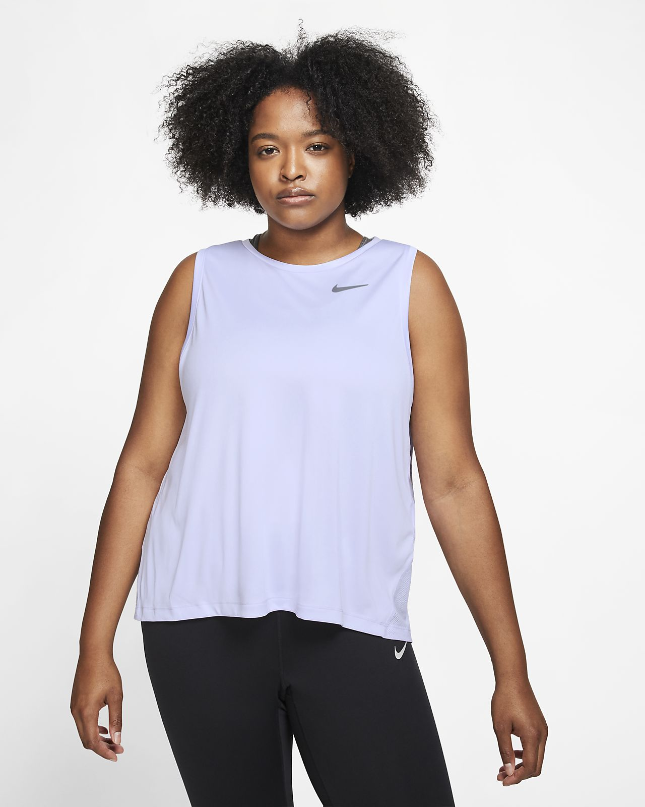 Nike Miler løpesinglet til dame (store størrelser)