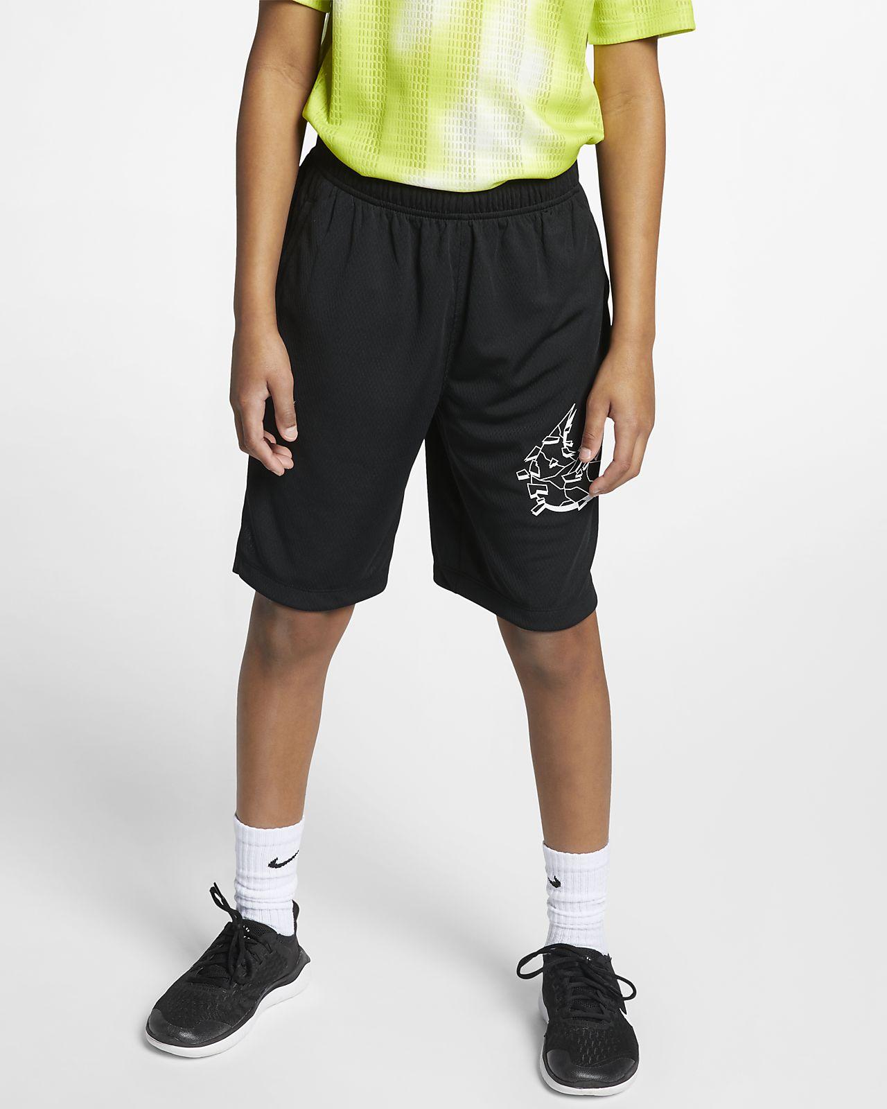 กางเกงเทรนนิ่งขาสั้นเด็กโตพิมพ์ลาย Nike Dri-FIT (ชาย)